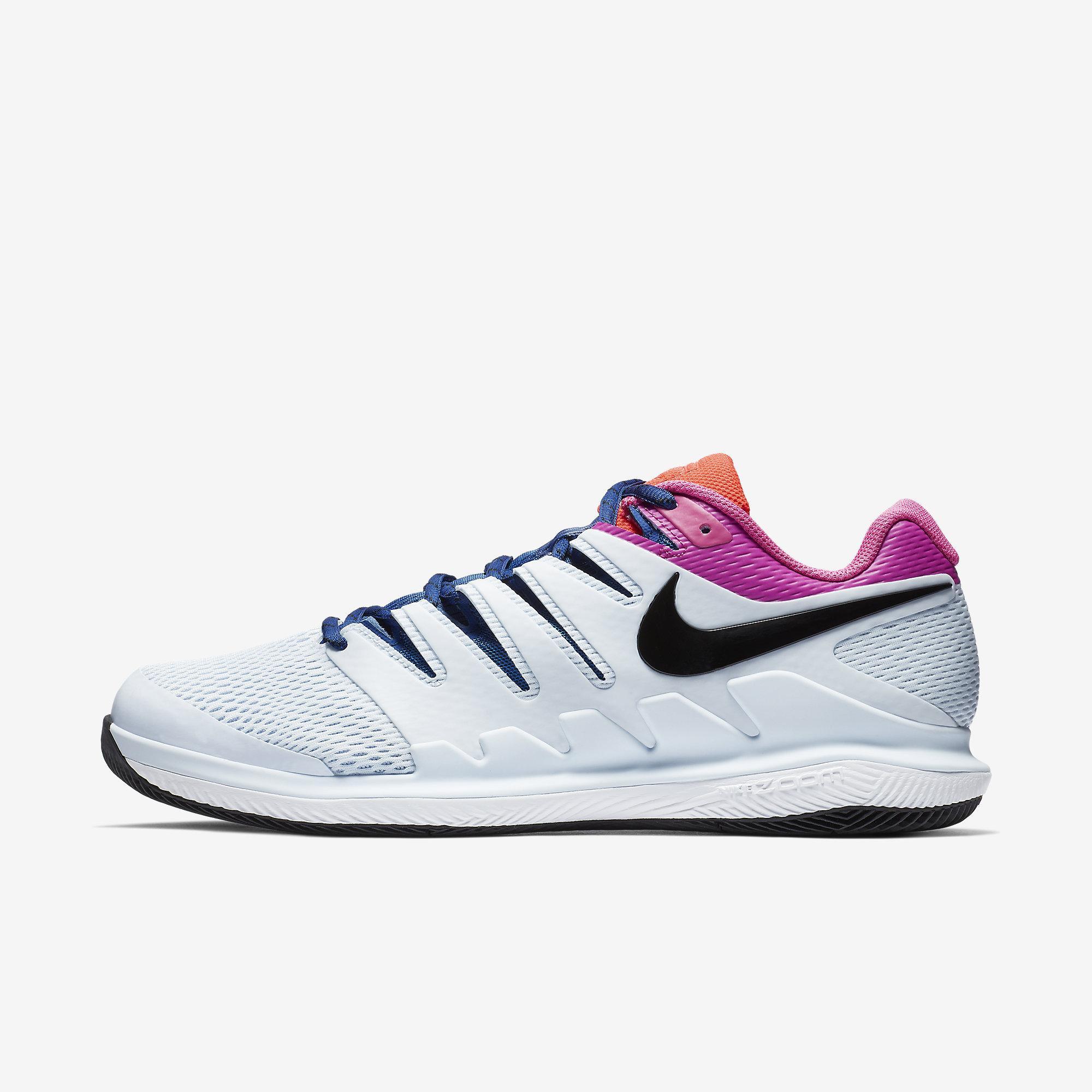 132cf934922b Nike Mens Air Zoom Vapor X Tennis Shoes - Half Blue Multi-Colour -  Tennisnuts.com