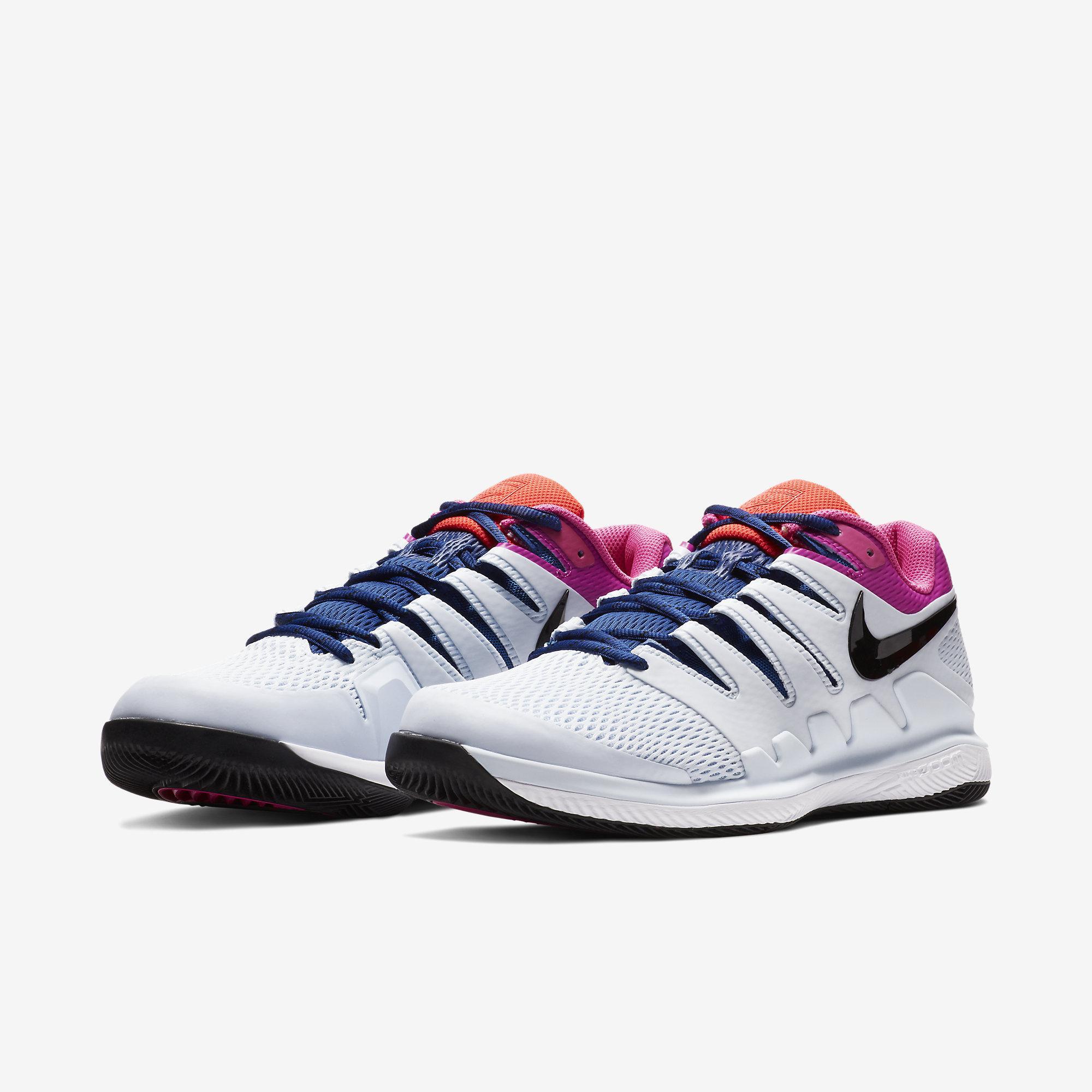 ae94faf74485 Nike Mens Air Zoom Vapor X Tennis Shoes - Half Blue Multi-Colour ...