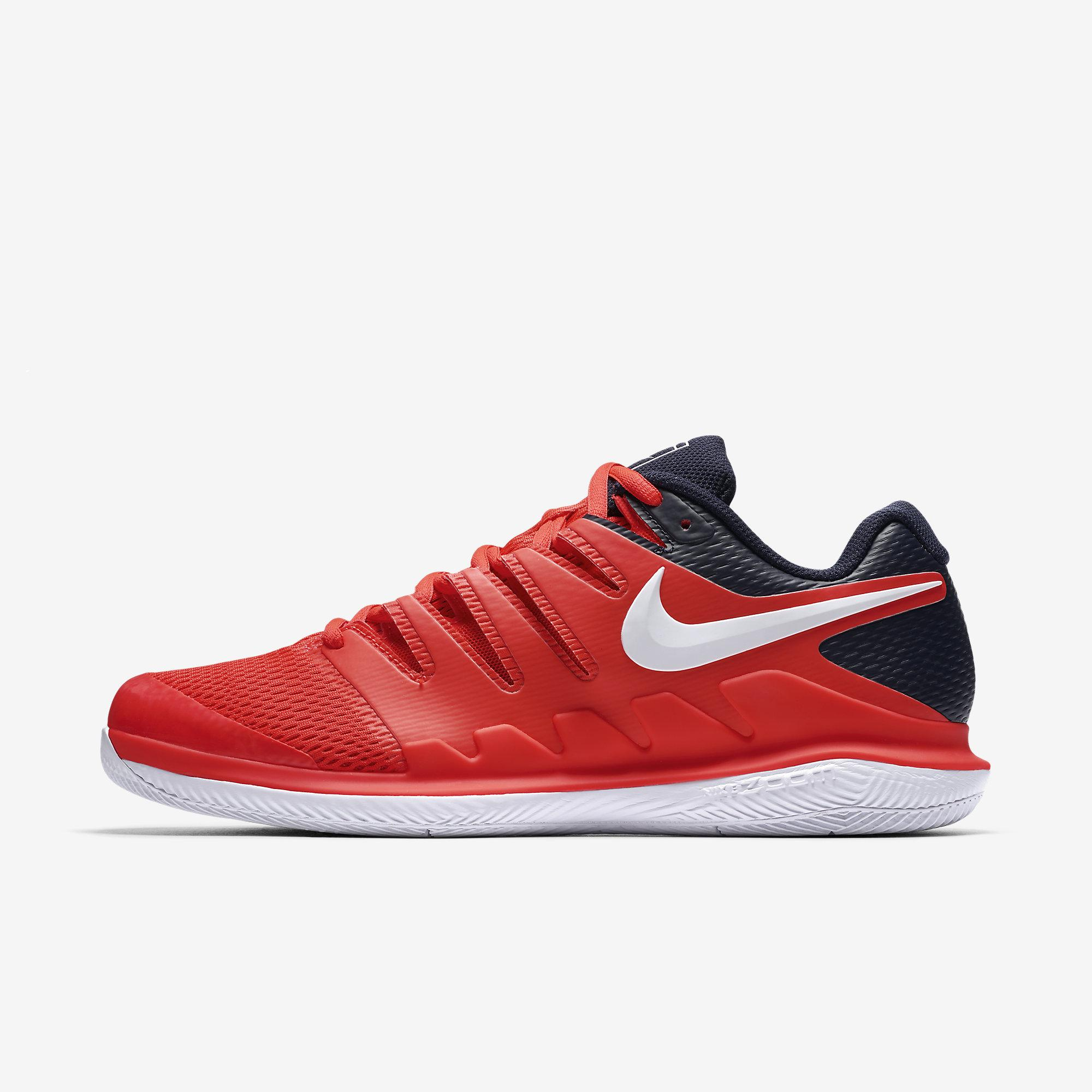 6f5ec5a5280f Nike Mens Air Zoom Vapor X Tennis Shoes - Bright Crimson Blackened Blue -  Tennisnuts.com