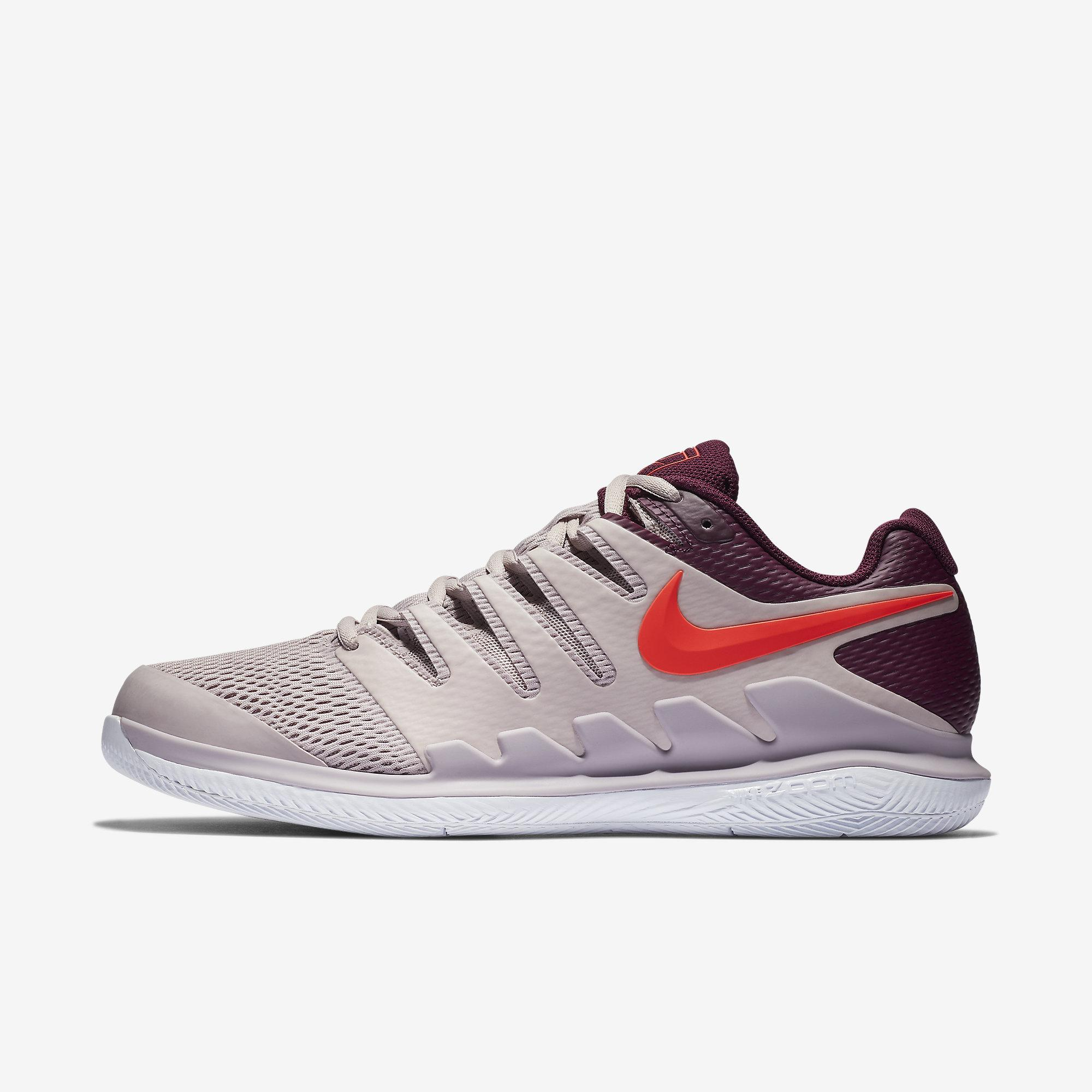 f05919a4fa Nike Mens Air Zoom Vapor X Tennis Shoes - Bright Crimson Bordeaux  Black Particle Rose - Tennisnuts.com