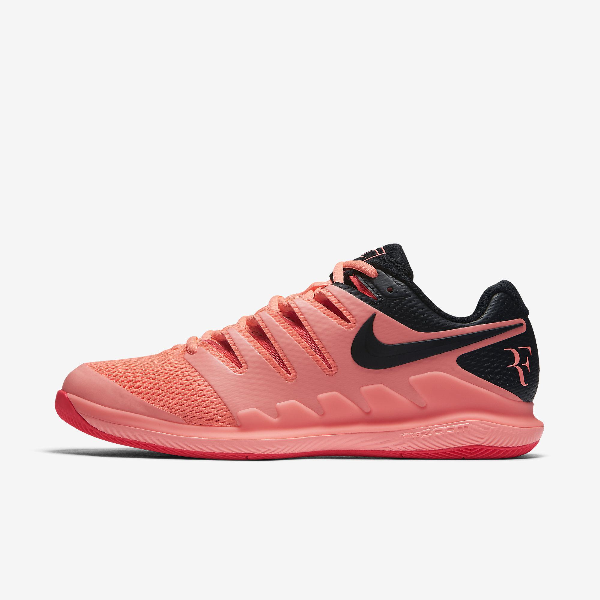 buy online 4169f 042ba Nike Mens Air Zoom Vapor X RF Tennis Shoes - Lava Glow Solar Red Black -  Tennisnuts.com