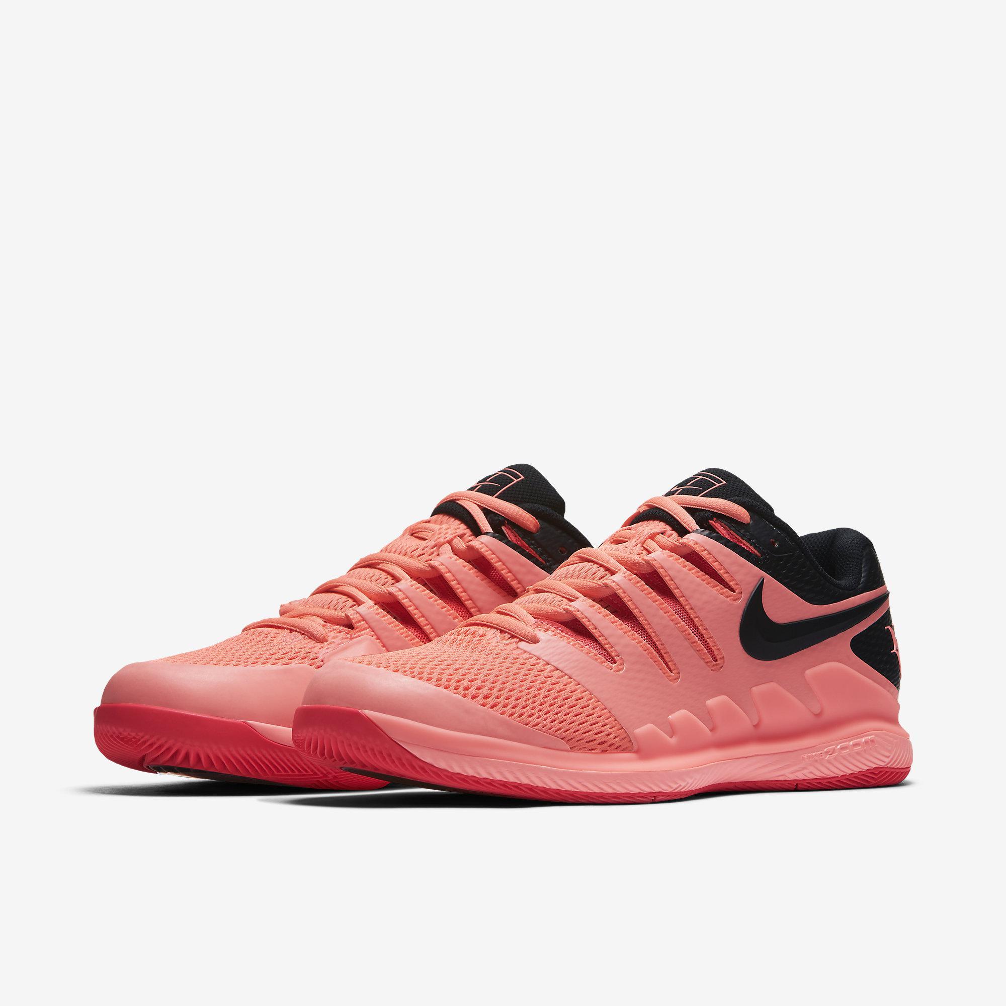 16c34c0b8c111 Nike Mens Air Zoom Vapor X RF Tennis Shoes - Lava Glow Solar Red ...