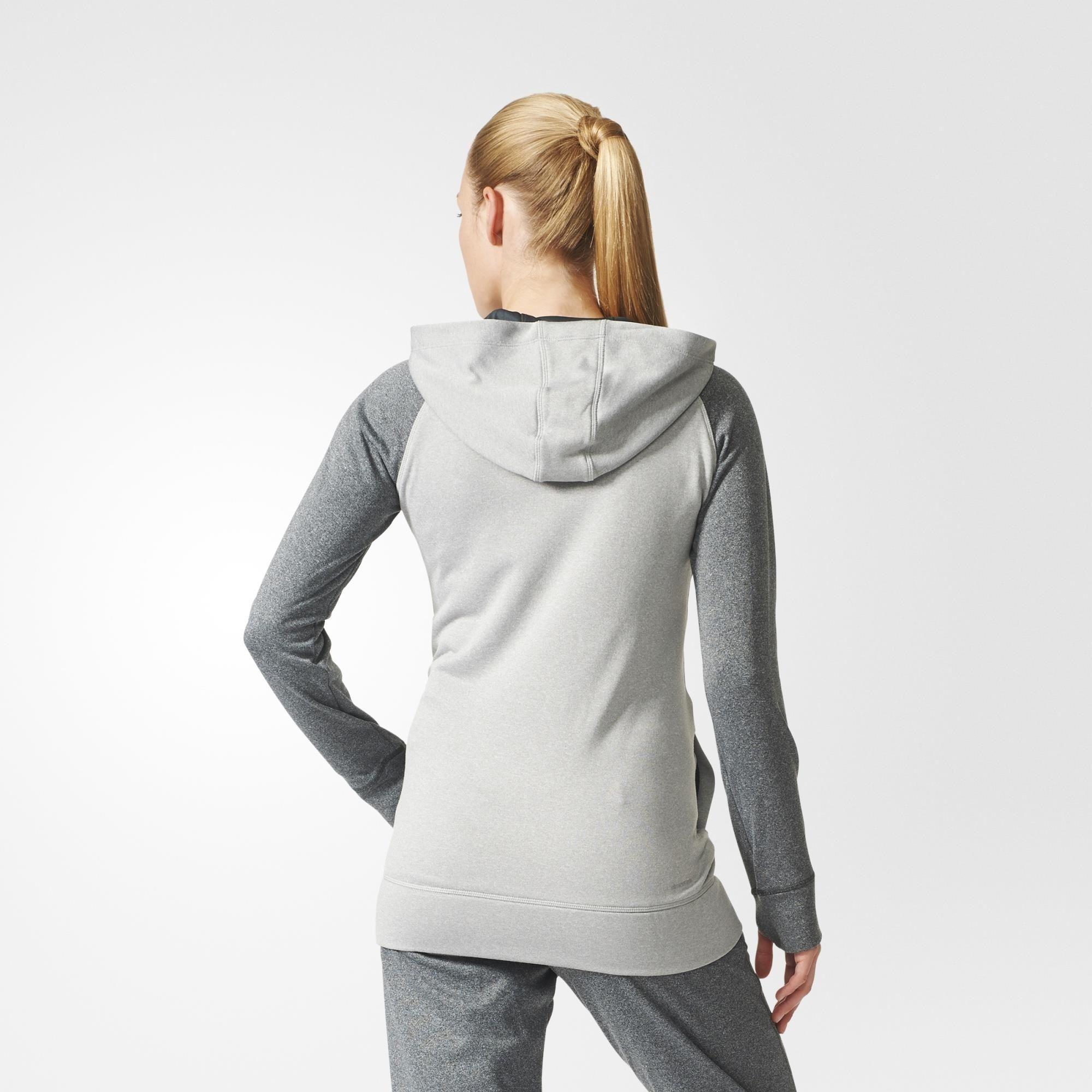 Adidas sudadera capucha Womens Ultimate polar sudadera con capucha gris gris 064c388 - colja.host