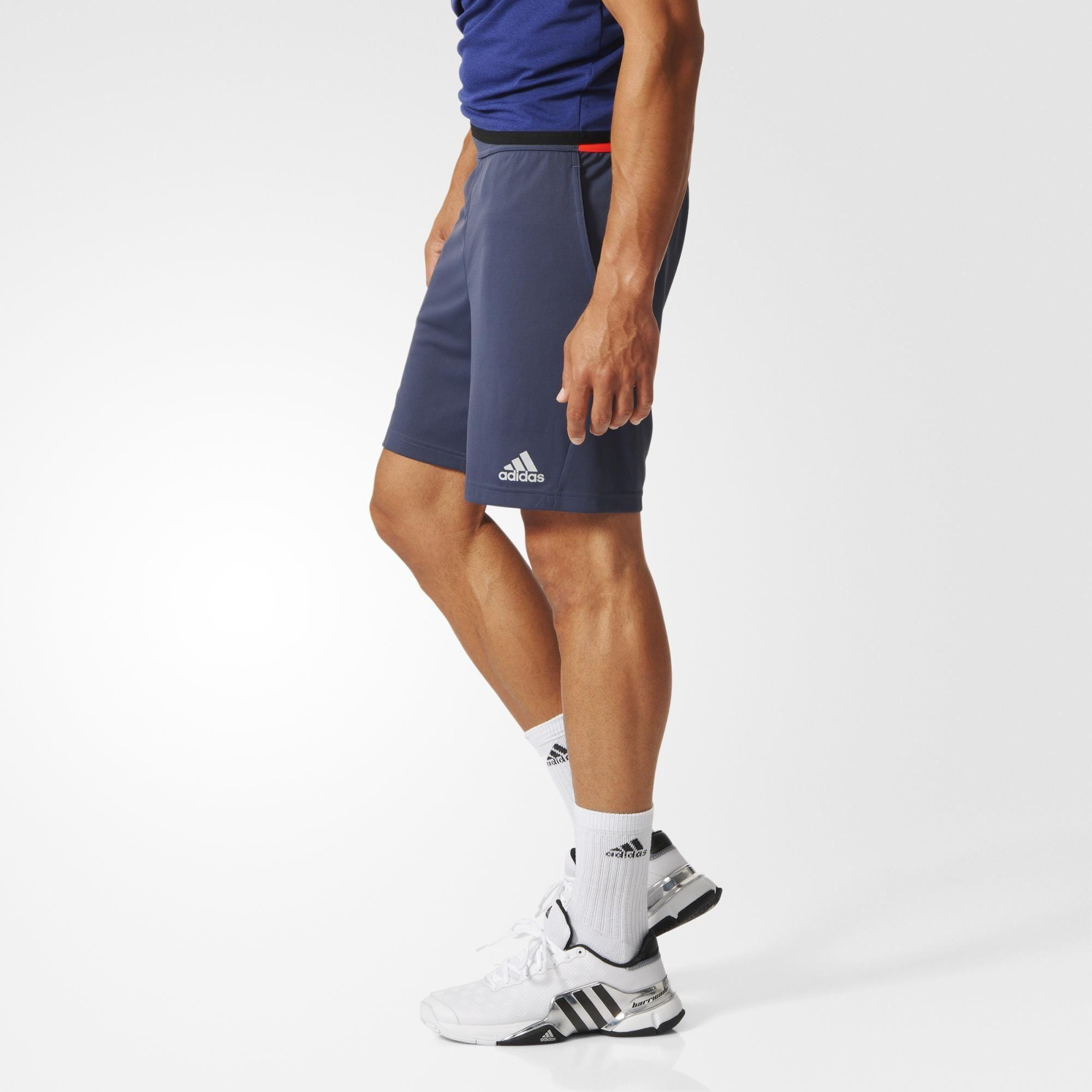 Adidas Mens Barricade Uncontrol Climachill Shorts - Midnight Grey