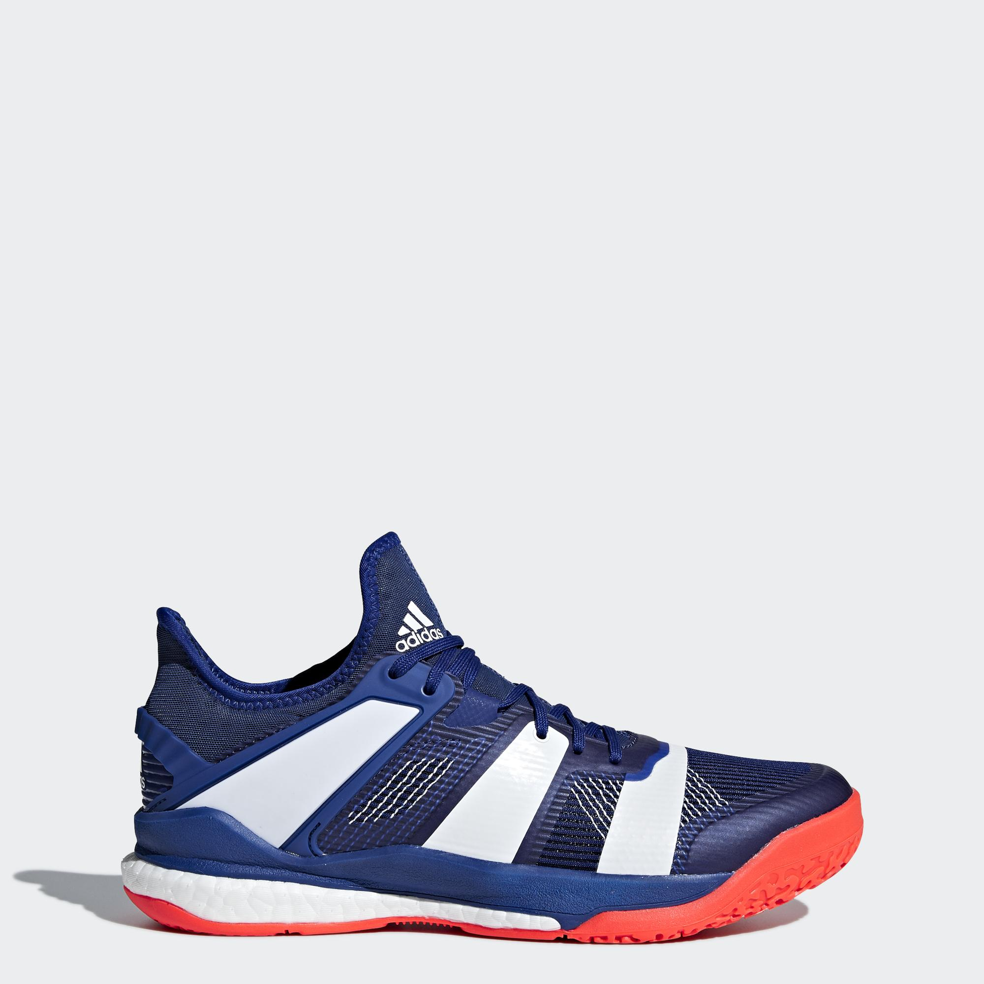 Adidas Mens Stabil X Boost Indoor Court Shoes - Legend Ink White Red -  Tennisnuts.com 7626dbe6c
