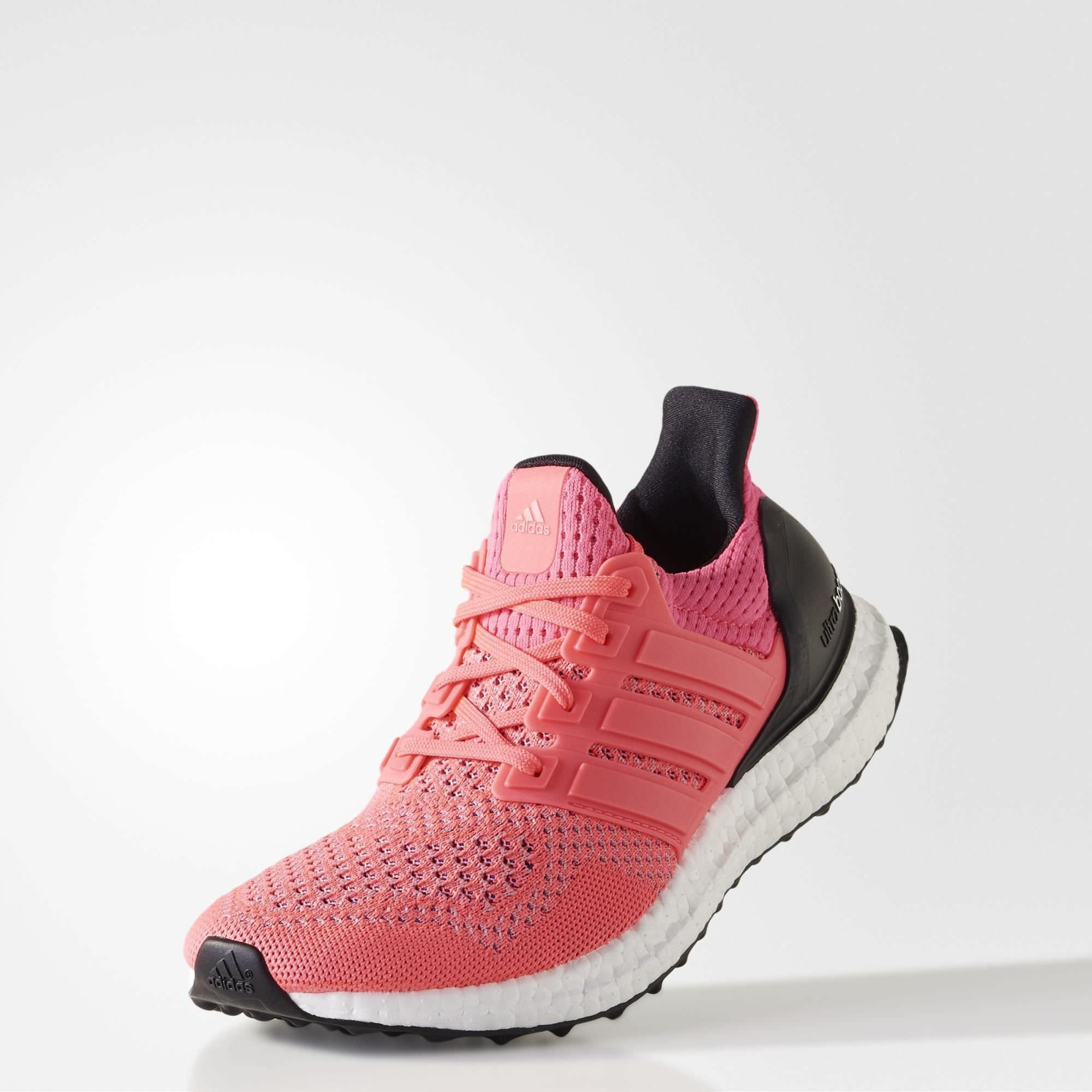 2f8e3a157ab4 Adidas Womens Ultra Boost Running Shoes - Flash Red Core Black ...