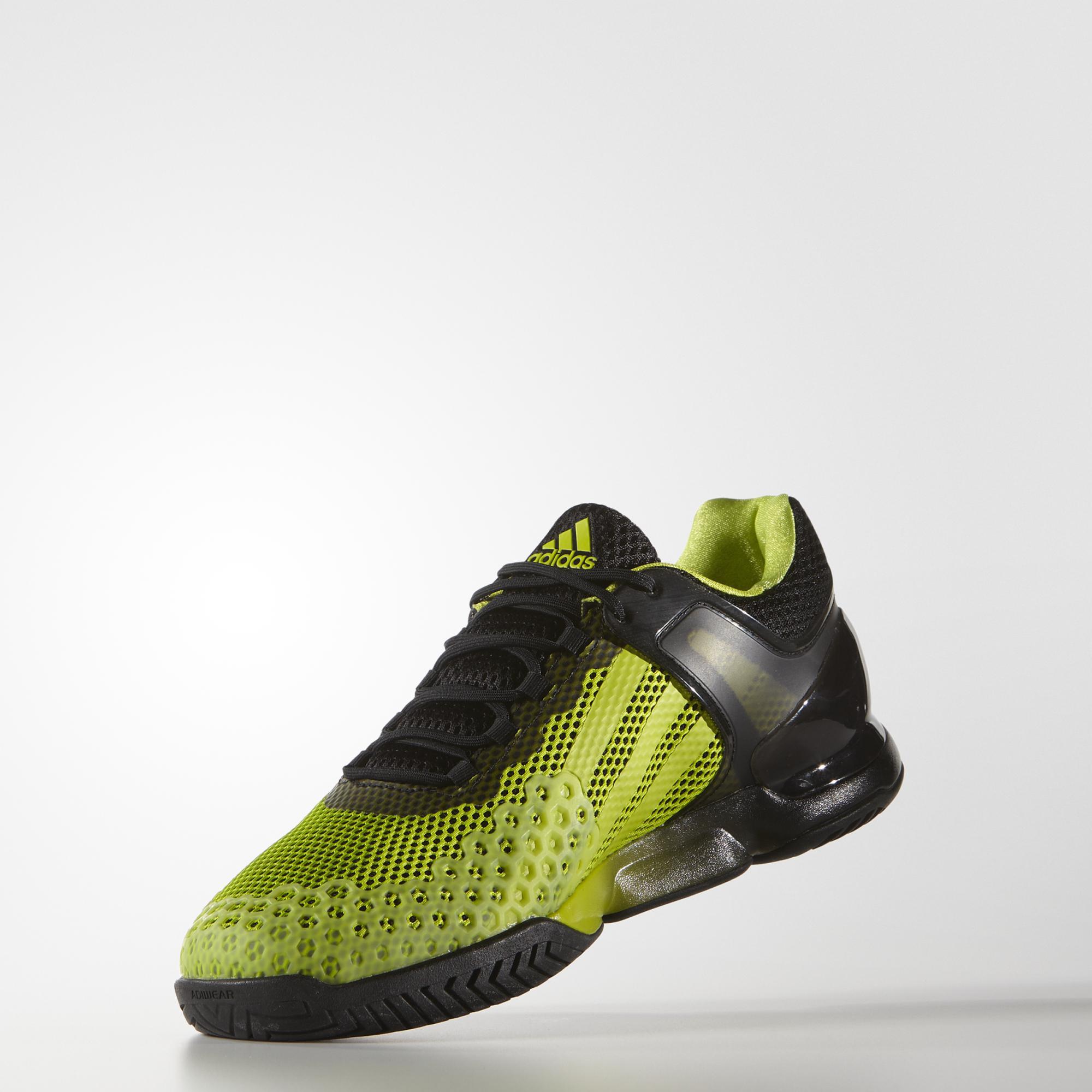 adidas mens adizero ubersonic tennis shoes green black