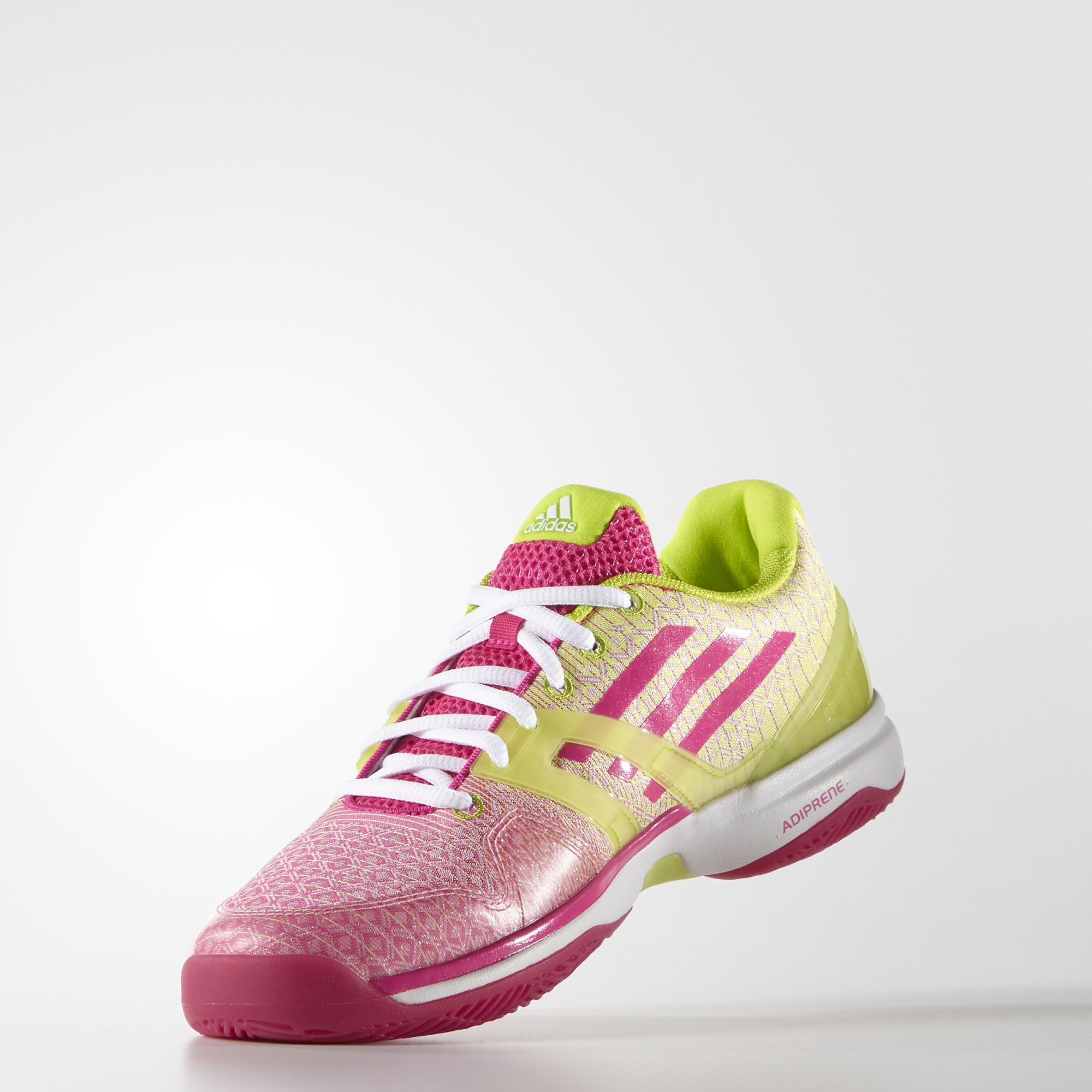 Adidas Womens Adizero Ubersonic Tennis Shoes - Green/Pink