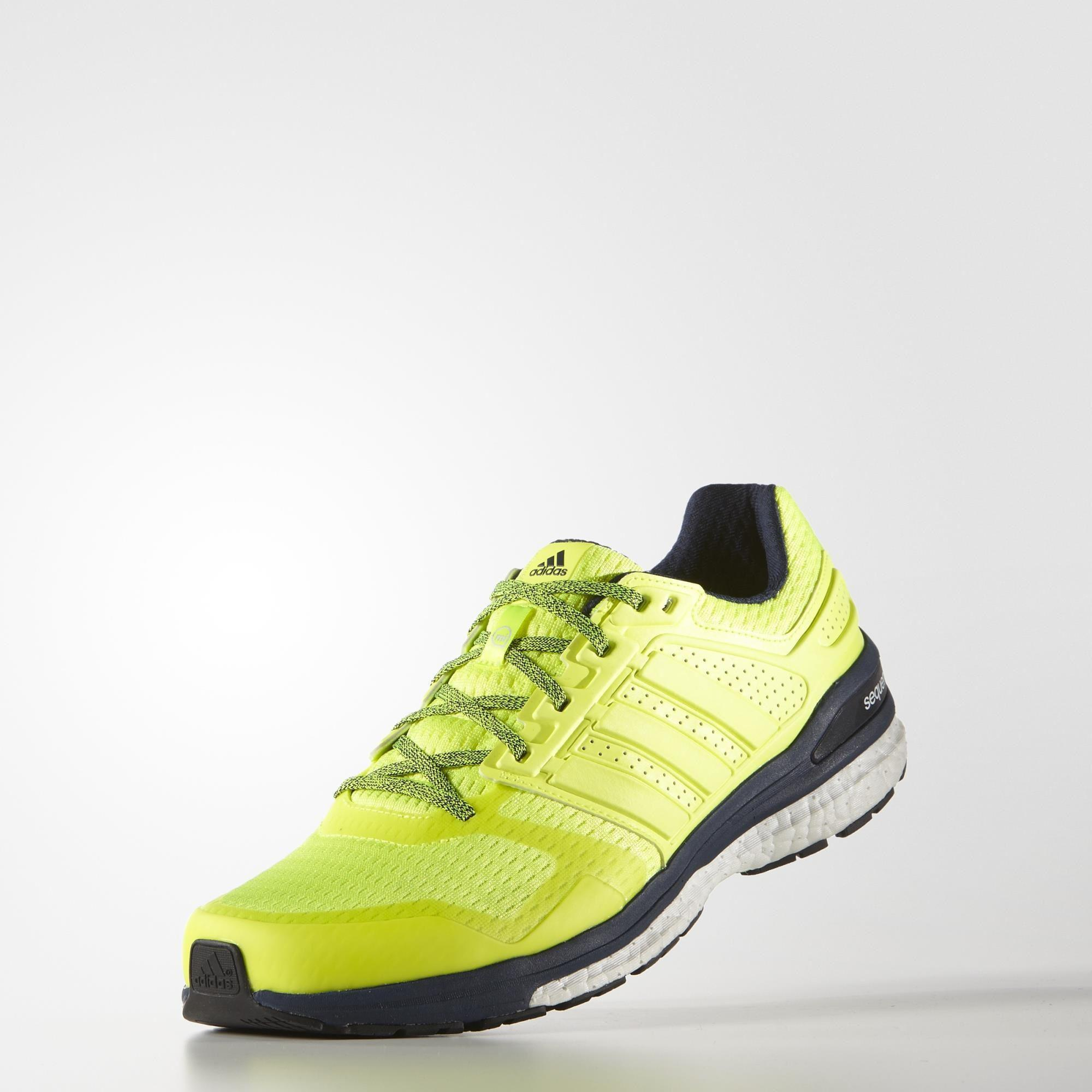 5158fec6365 Adidas Mens Supernova Sequence Boost 8 Running Shoes - Yellow ...