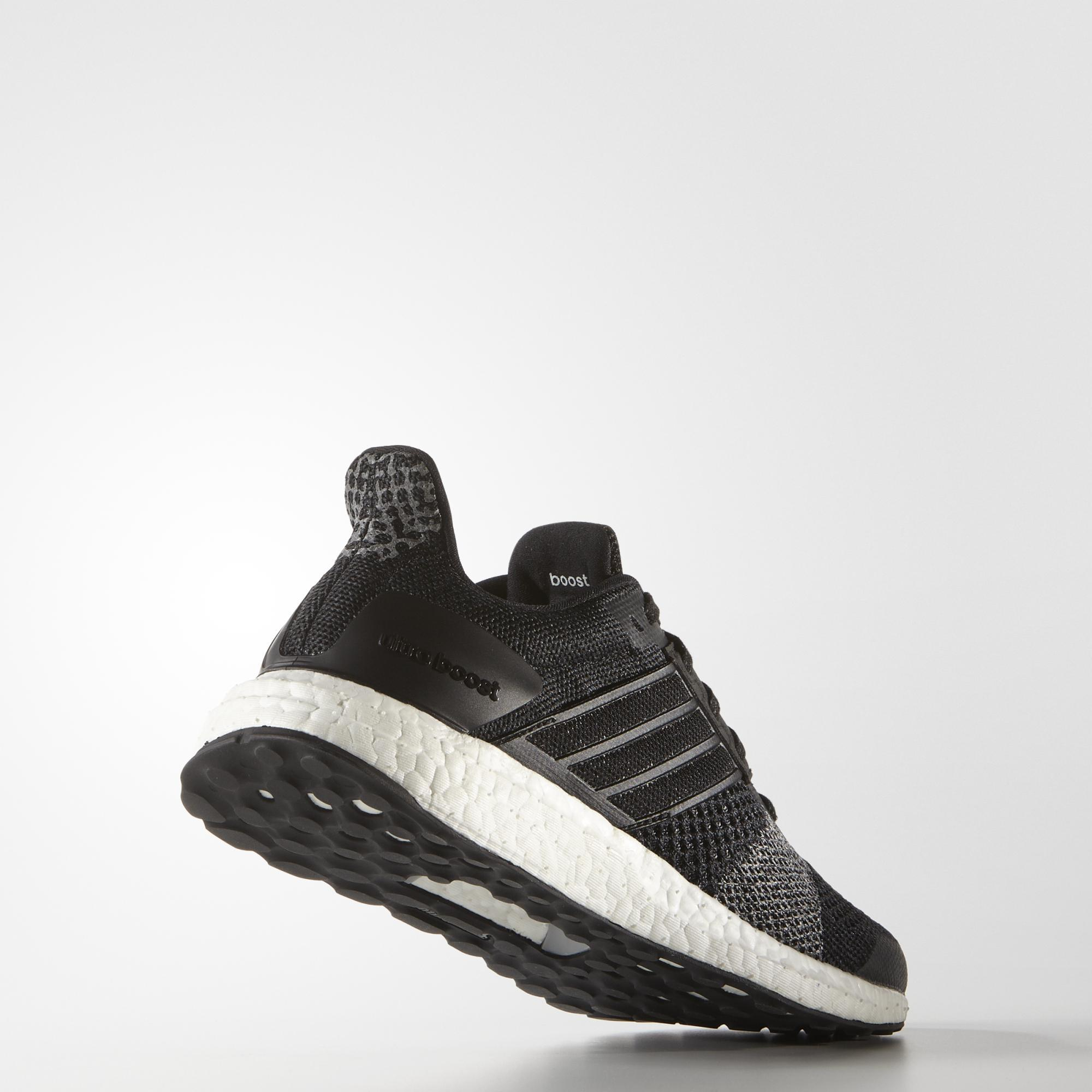 Adidas Womens Ultra Boost St Glow Running Shoes Black