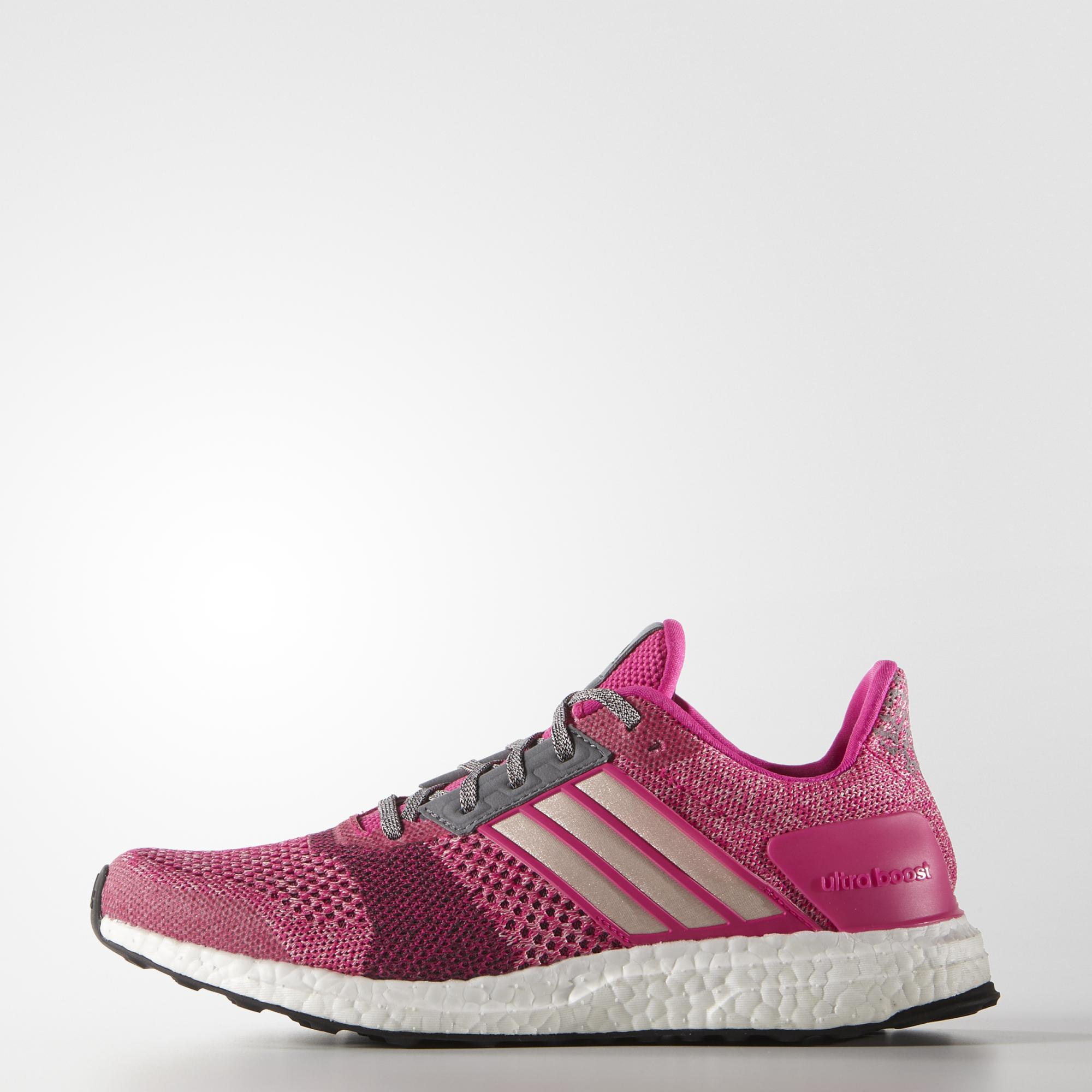 Adidas Womens Ultra Boost St Running Shoes Pink