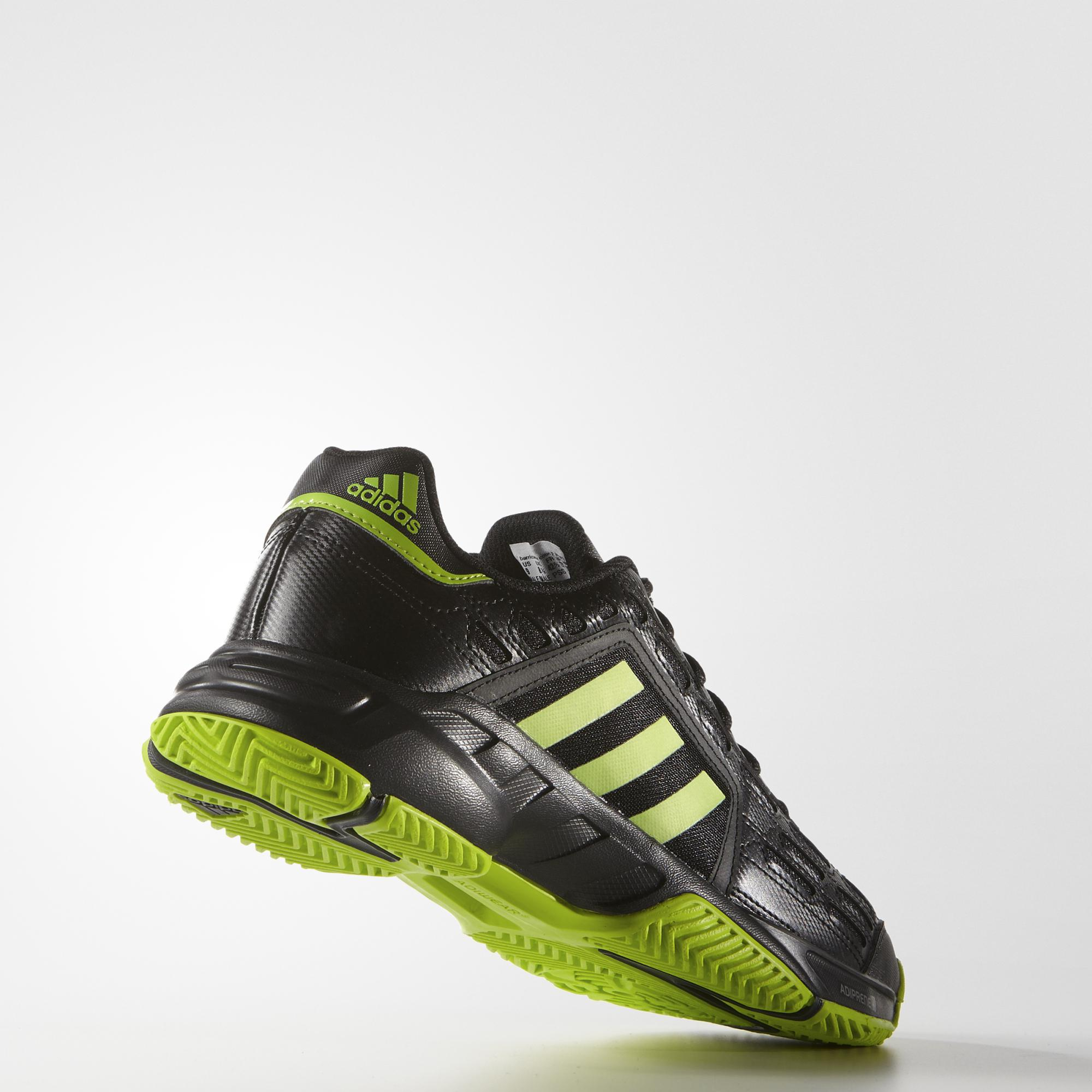 79063b733a63 Adidas Mens Barricade Court 2.0 Tennis Shoes - Black Green ...