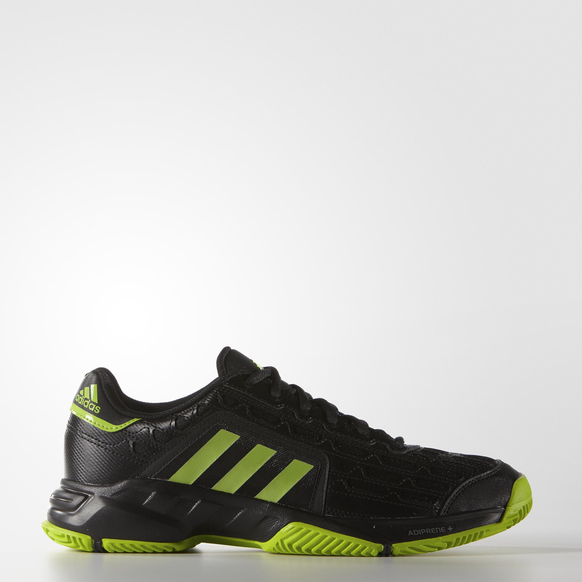 Adidas hombre Barricade tenis zapatos negro / verde