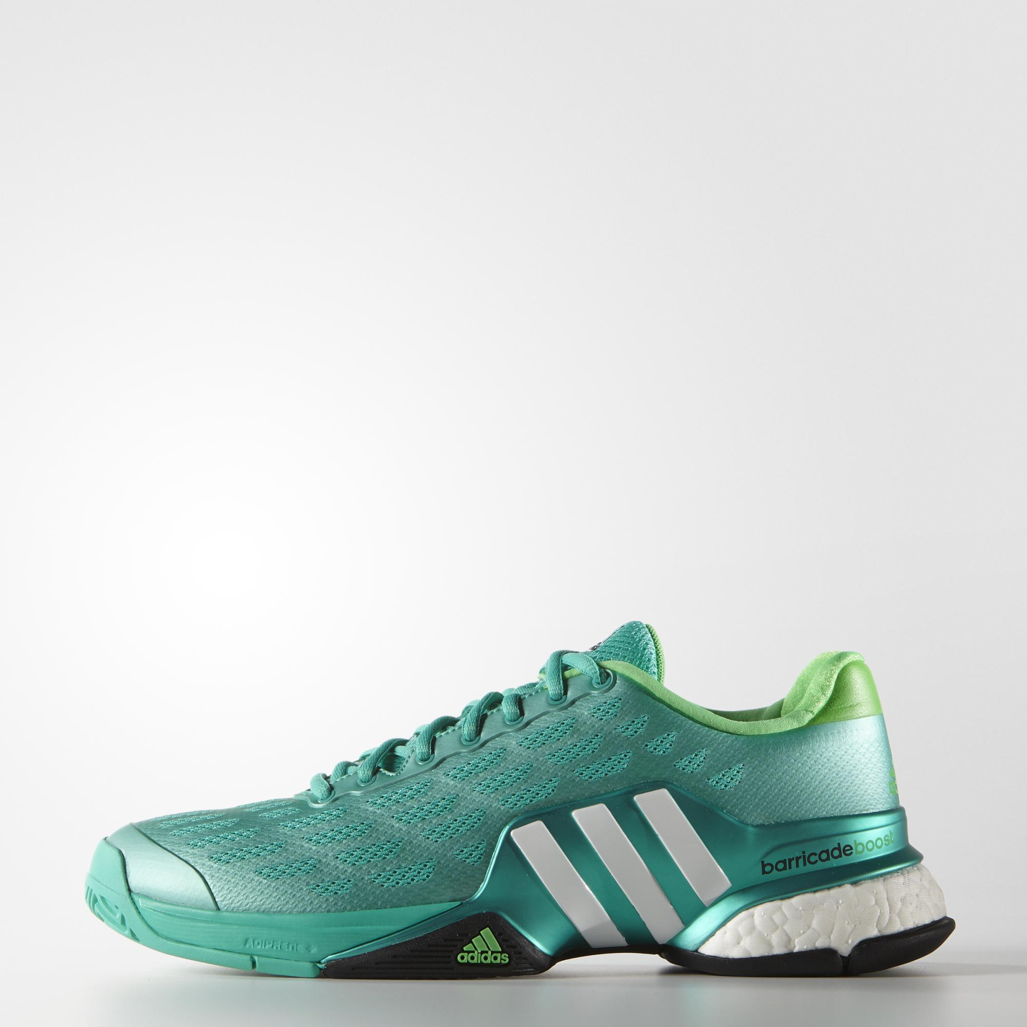 Adidas Mens Barricade Boost 2016 Tennis Shoes Green