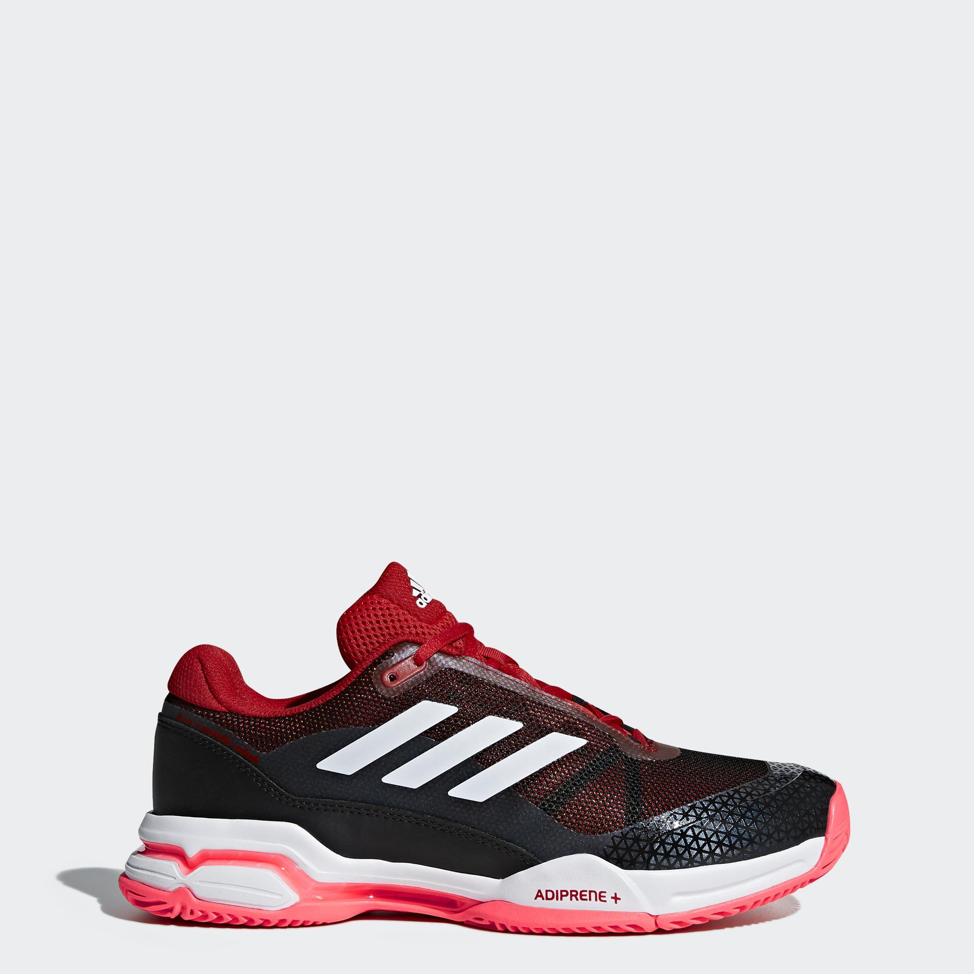 sneakers for cheap 93104 ab094 Adidas Mens Barricade Club Tennis Shoes - Red White Black - Tennisnuts.com