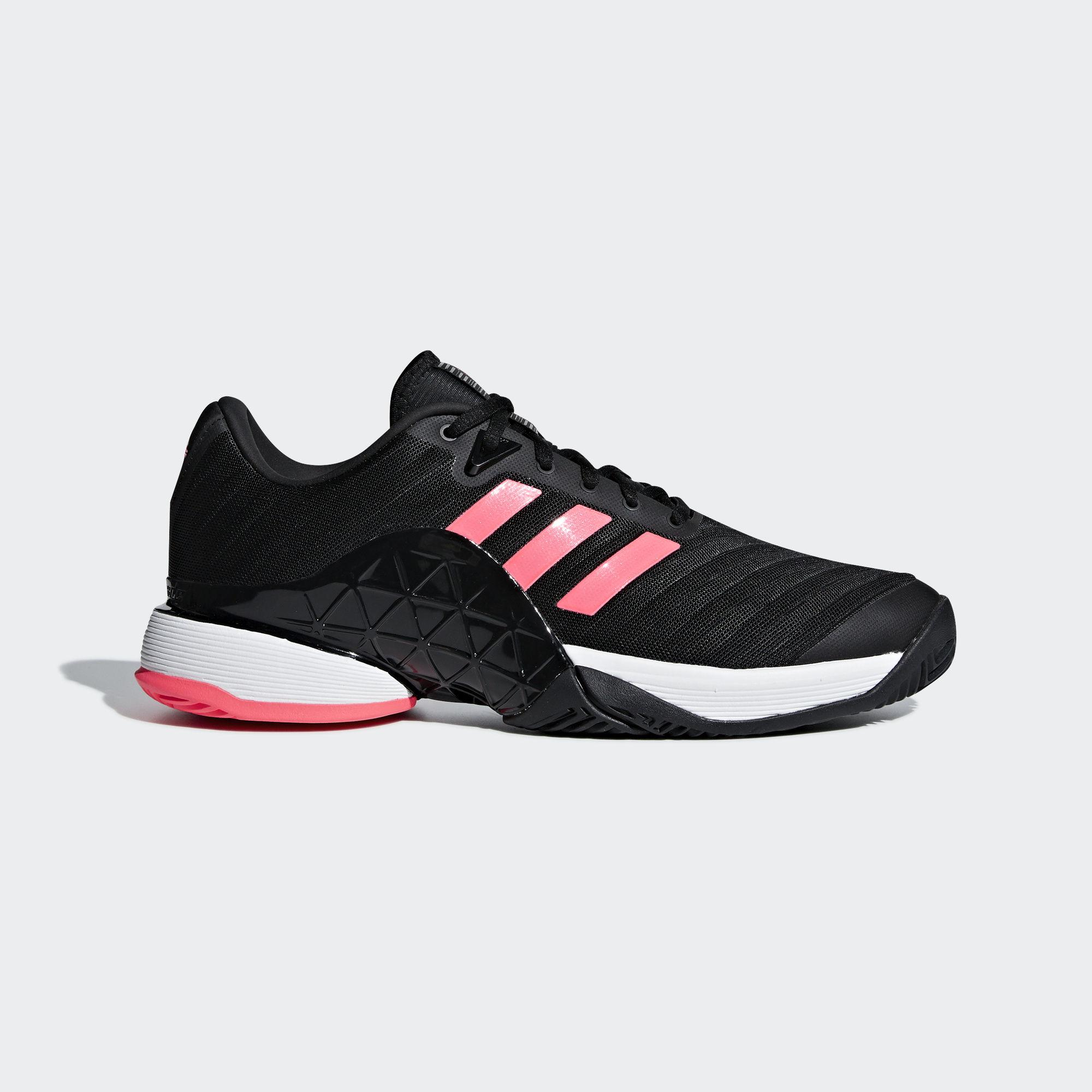 new product b2f86 ba766 ... best price adidas mens barricade 2018 tennis shoes black flash red  tennisnuts 88ca4 e7978