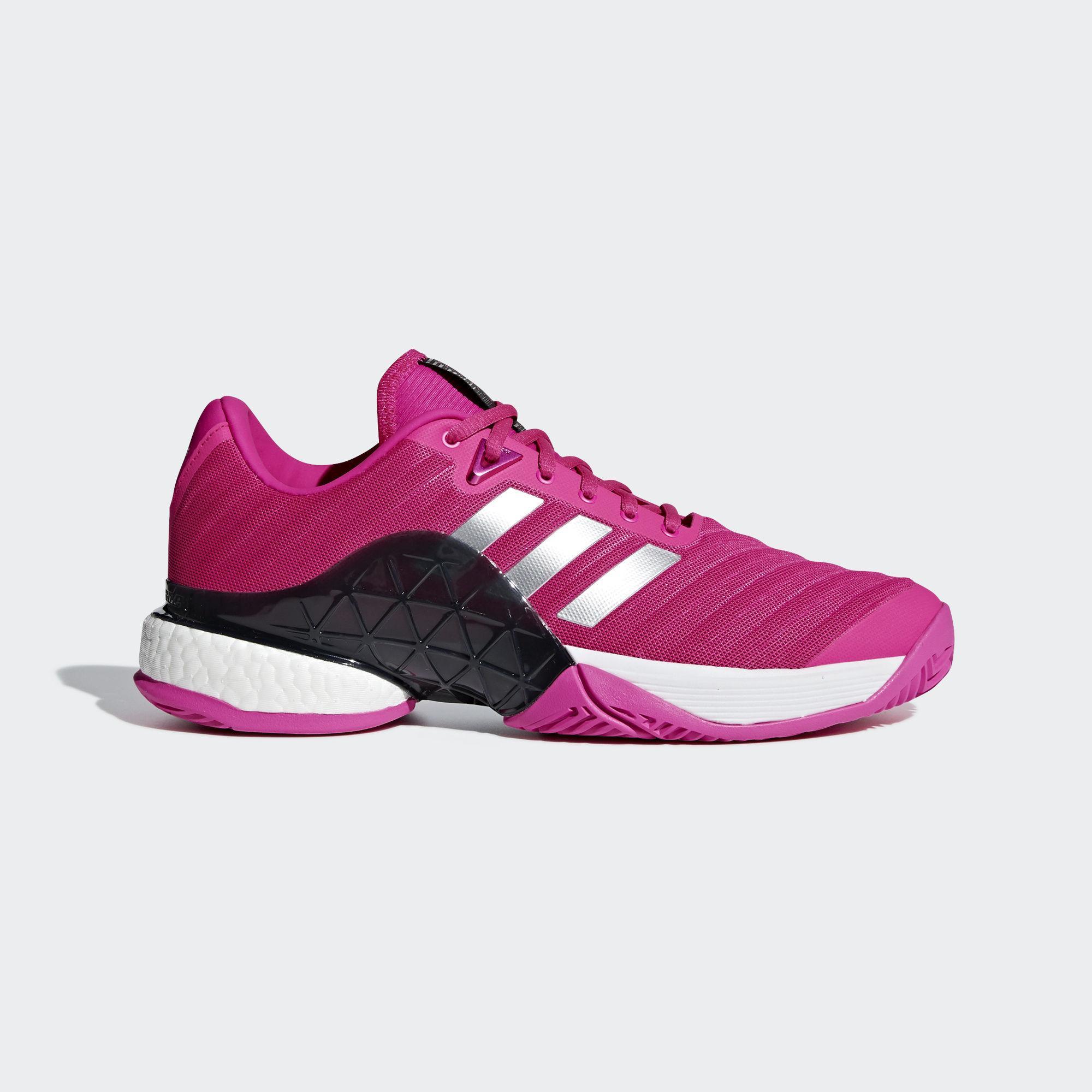 Adidas Mens Barricade Boost 2018 Tennis Shoes - Shock Pink ...