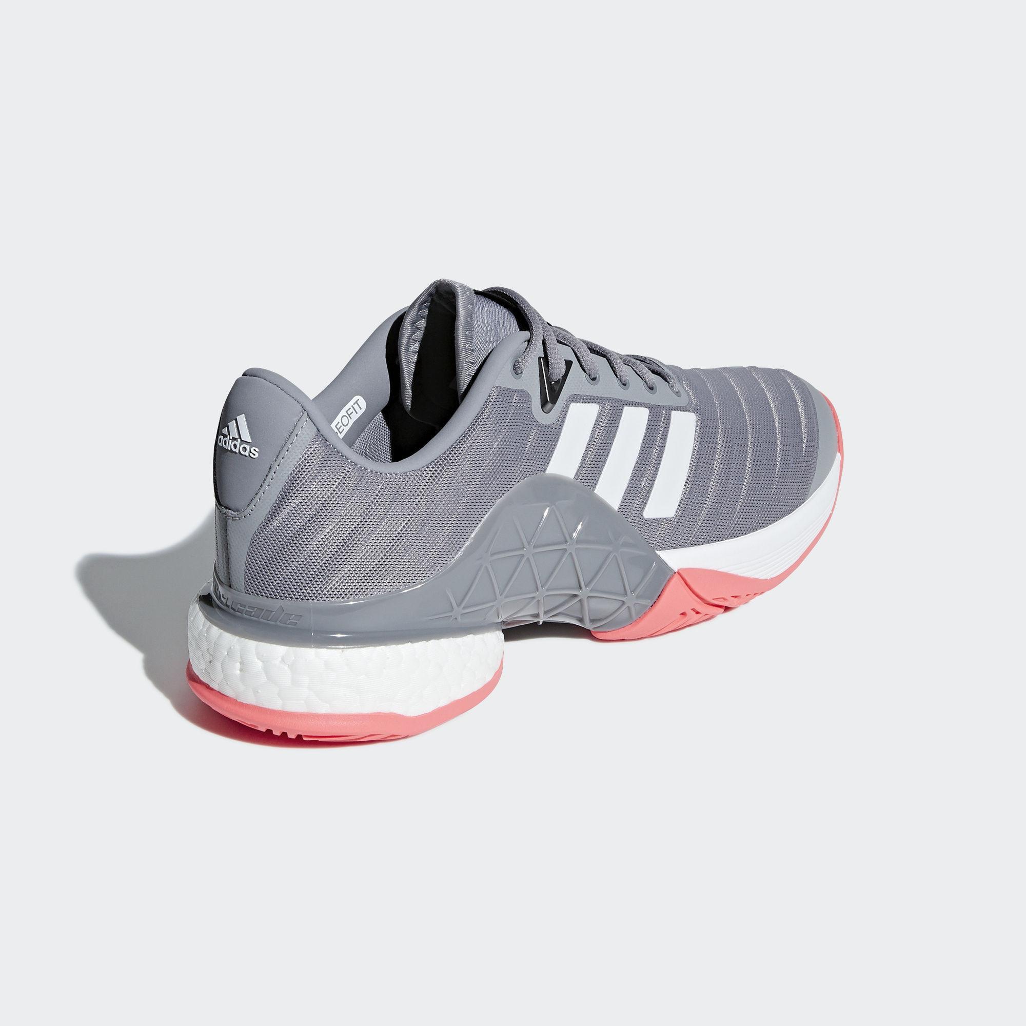 829534d44fdd Adidas Mens Barricade Code Boost 2018 Tennis Shoes Matte Silver
