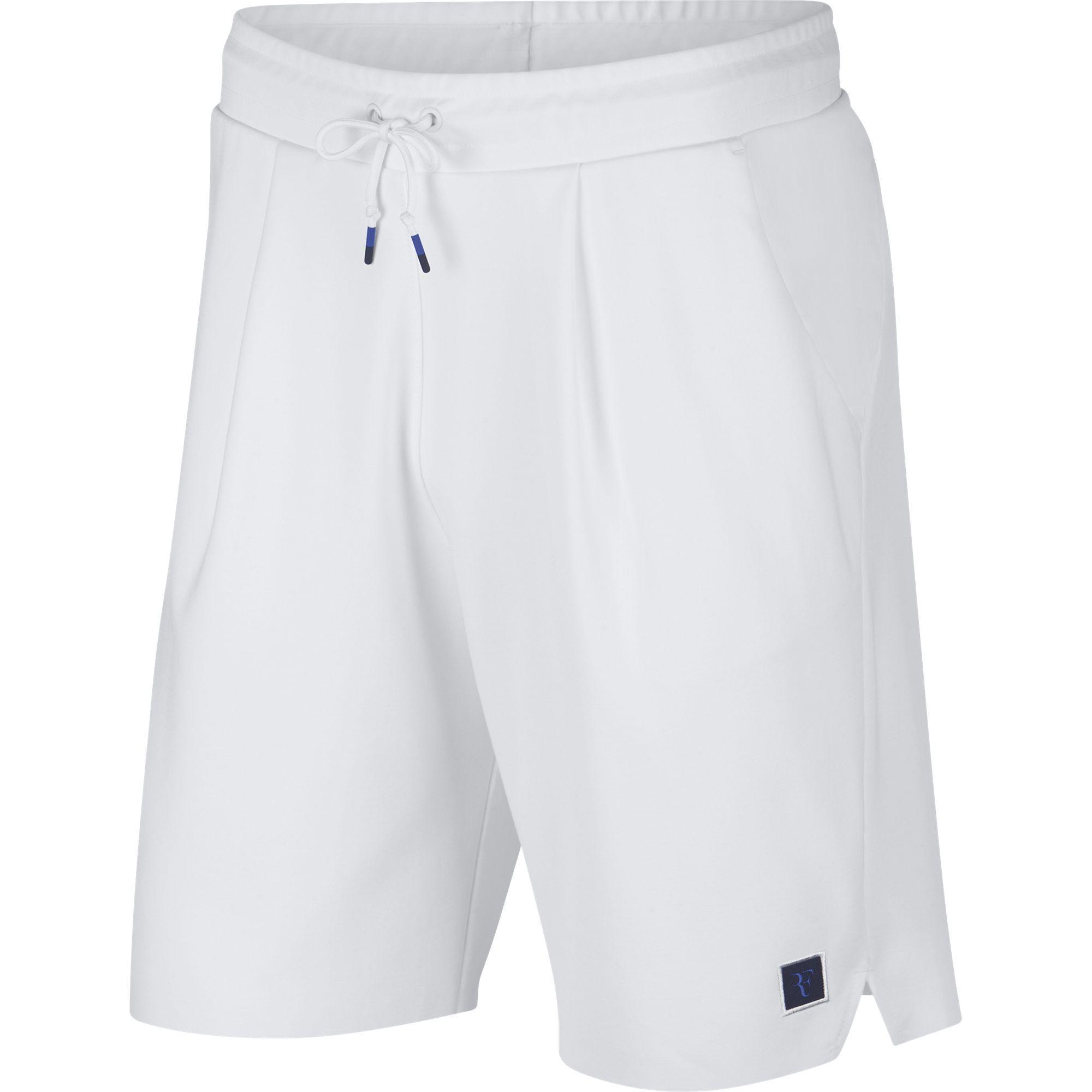 premium selection fb292 1b187 Nike Mens RF Tennis Shorts - White - Tennisnuts.com