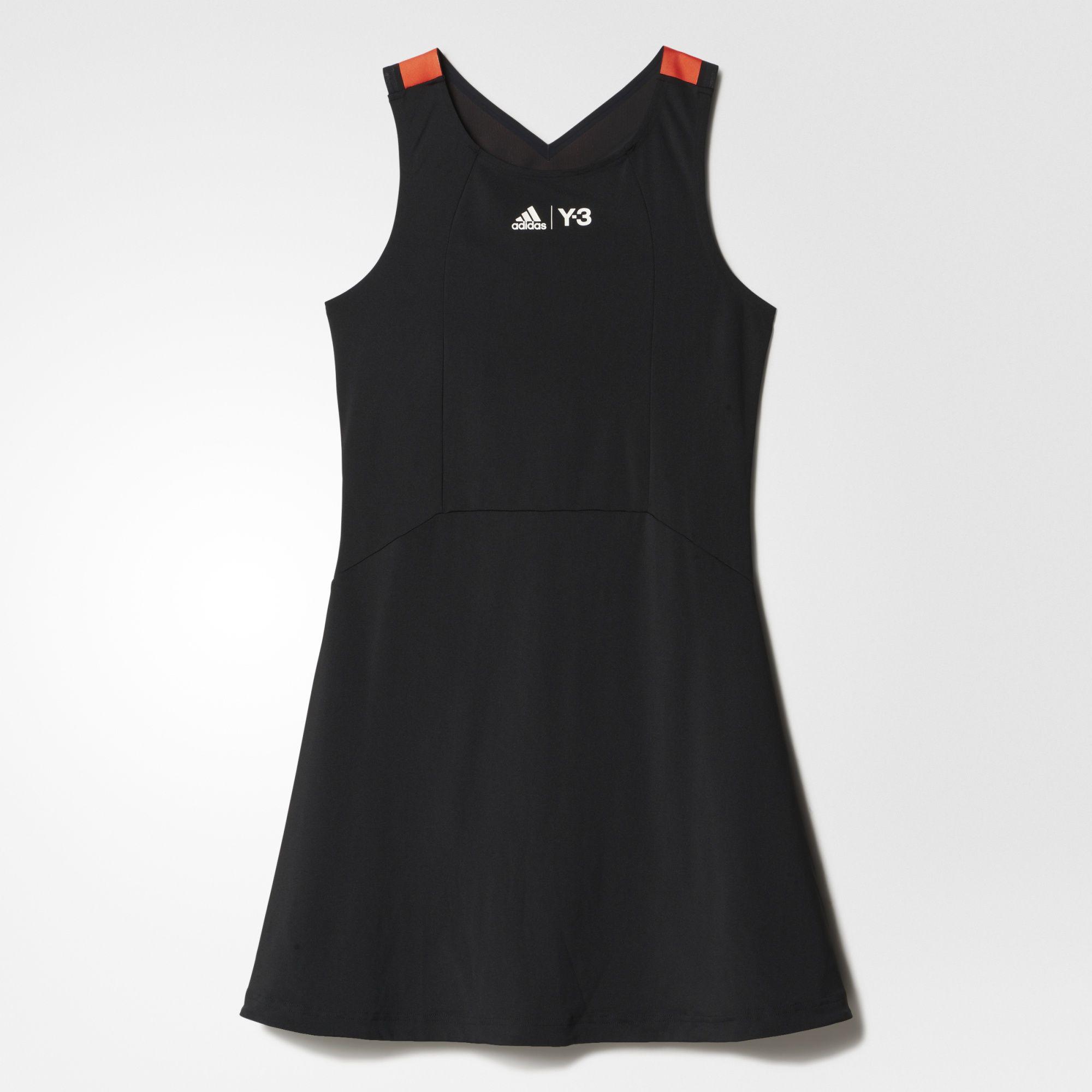 09f53aa63b661 Adidas Womens Y-3 Roland Garros Dress - Black Red - Tennisnuts.com