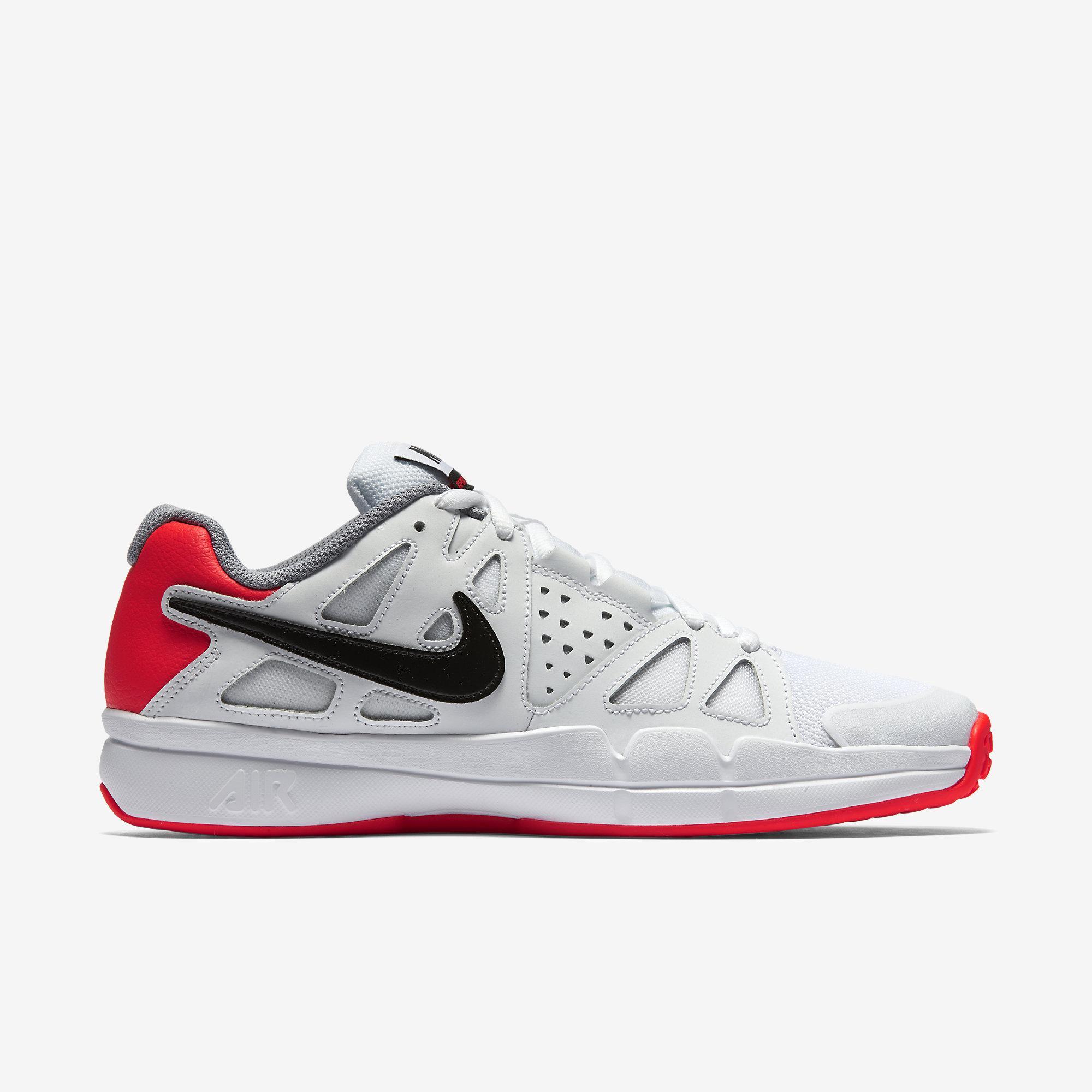 Nike Mens Air Vapor Advantage Omni Court Tennis Shoes WhiteCrimson