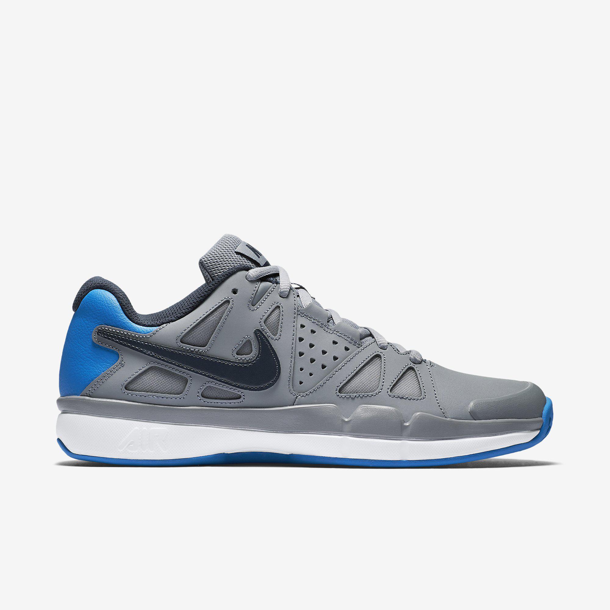 7ff43e455efd3 Nike Mens Air Vapor Advantage Clay Court Tennis Shoes - Grey -  Tennisnuts.com