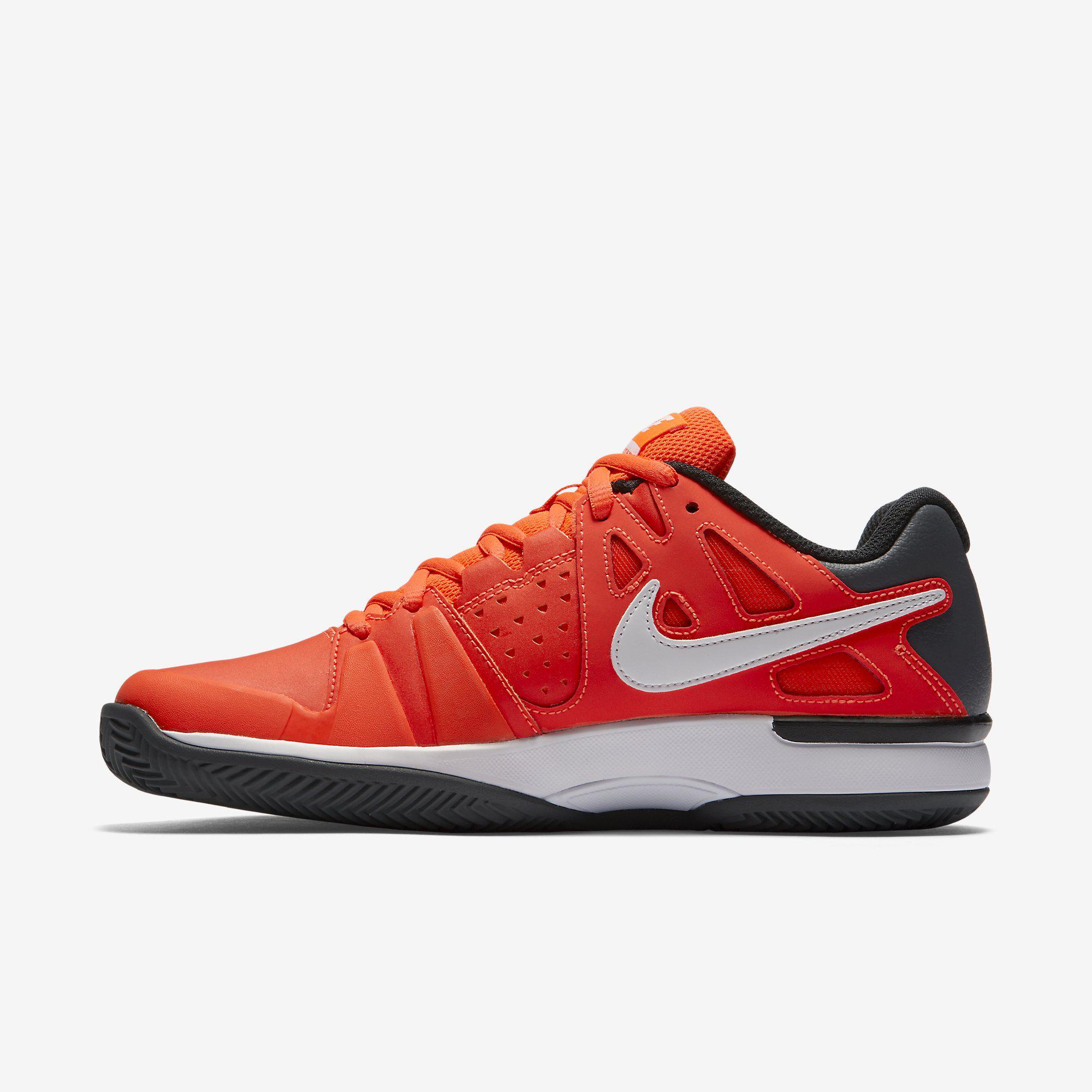 Nike Mens Air Vapor Advantage Clay Court Tennis Shoes - Red Black ... 9ed1f904e