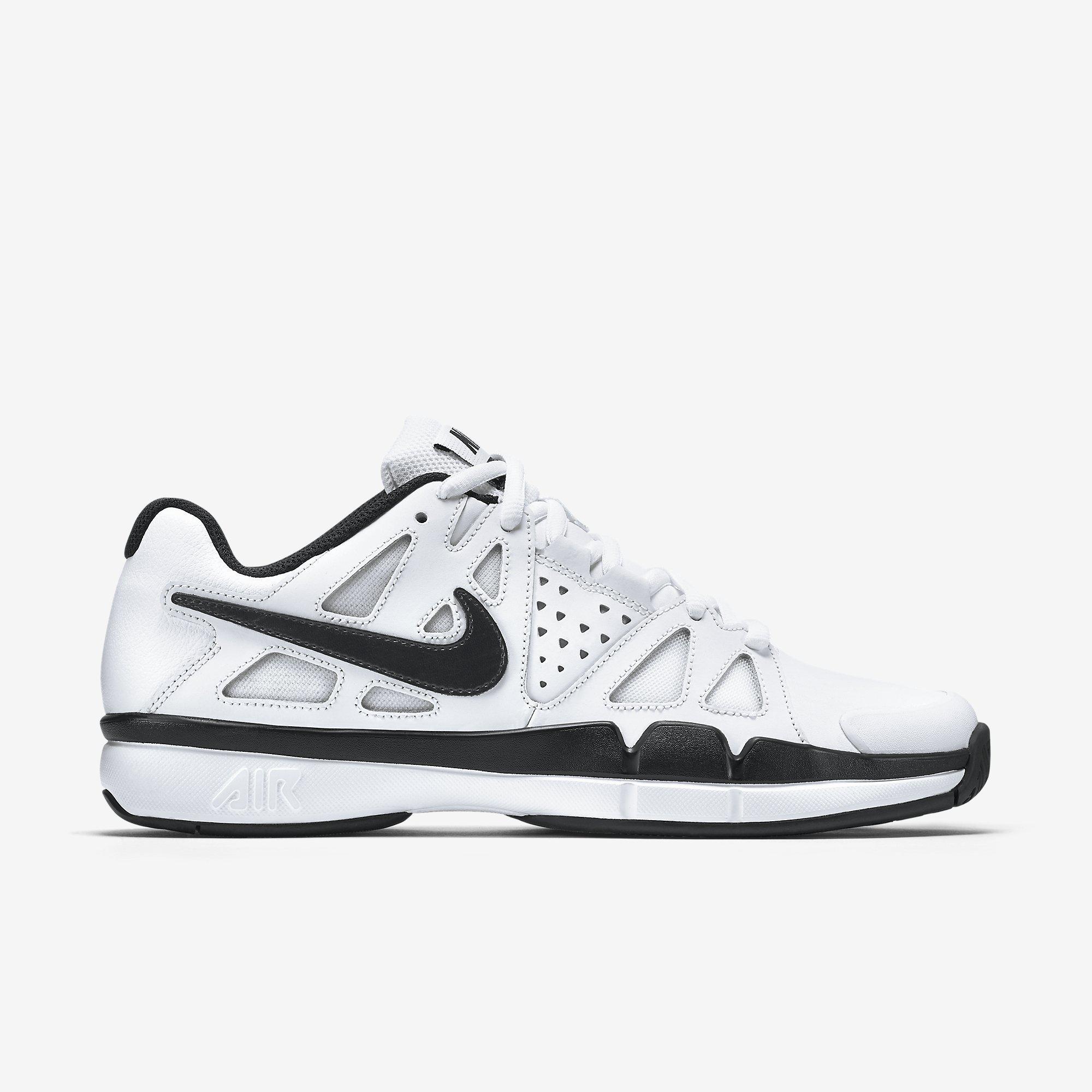 3527fc1116d8d Nike Mens Air Vapor Advantage Leather Tennis Shoes - White/Black -  Tennisnuts.com