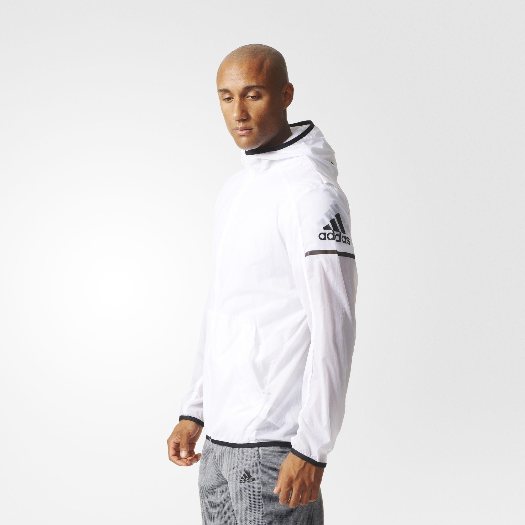 Adidas Mens Daybreaker Wind Jacket White Tennisnuts Com