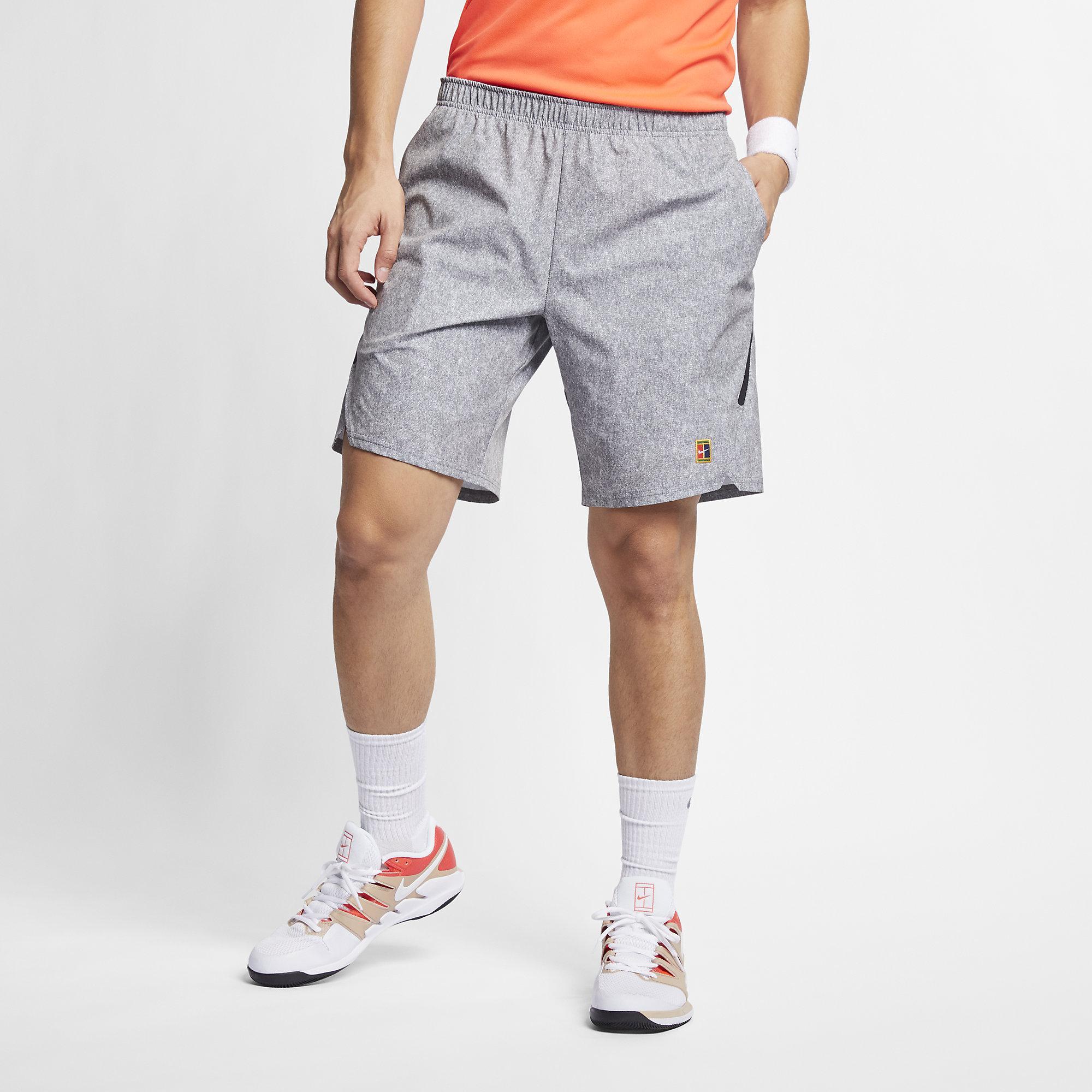42ef9bece4c8 Nike Mens Flex Ace 9 Inch Shorts - Cool Grey White - Tennisnuts.com