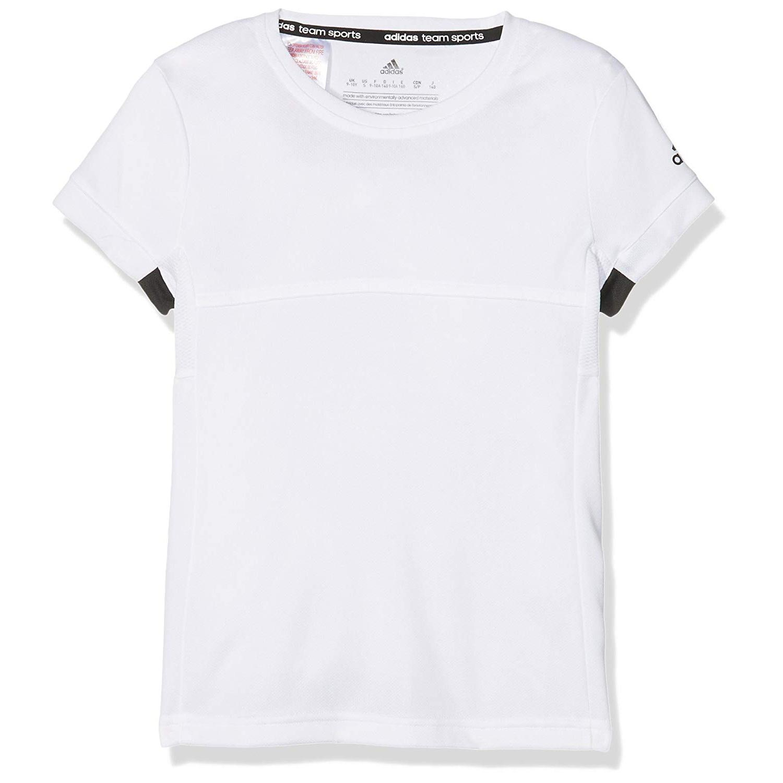online store 7e246 5d698 Adidas Girls T16 Climacool Tee - White Black - Tennisnuts.com