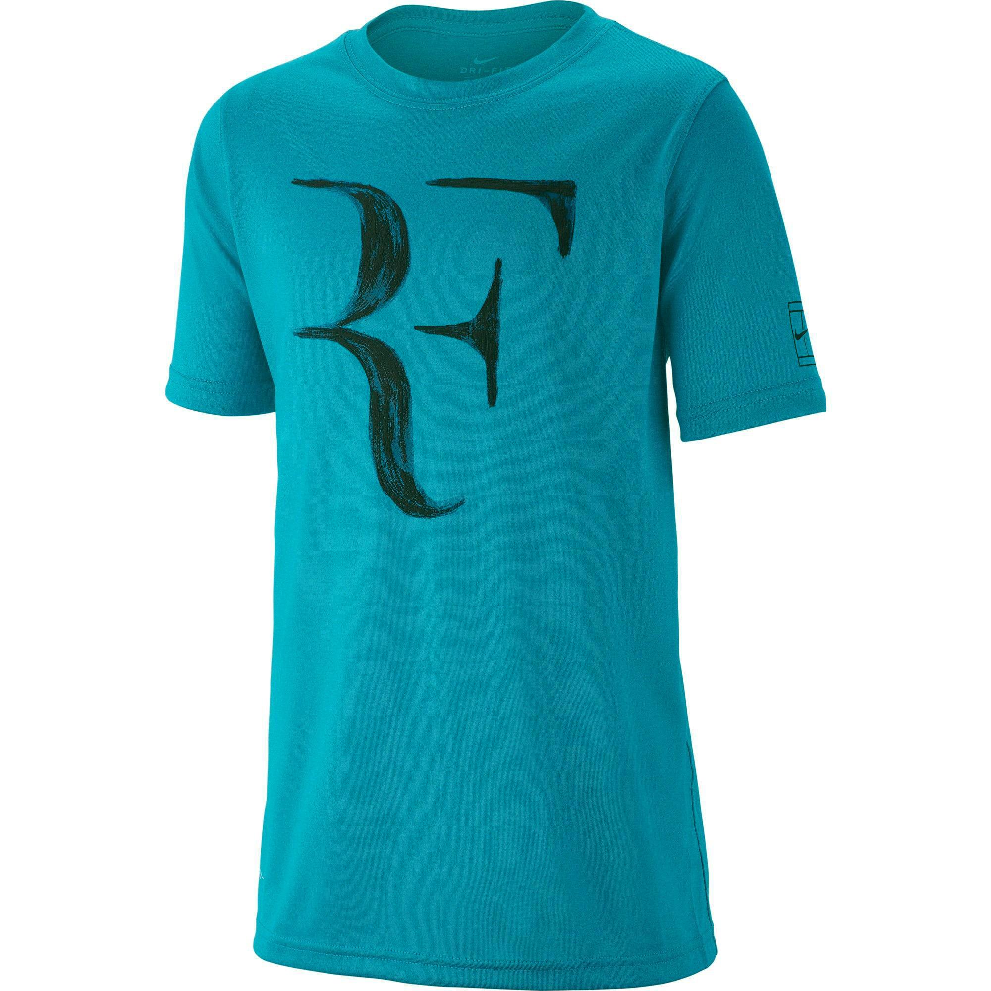e8920b97b11 Nike Boys Dry RF Tee - Neo Turquoise - Tennisnuts.com