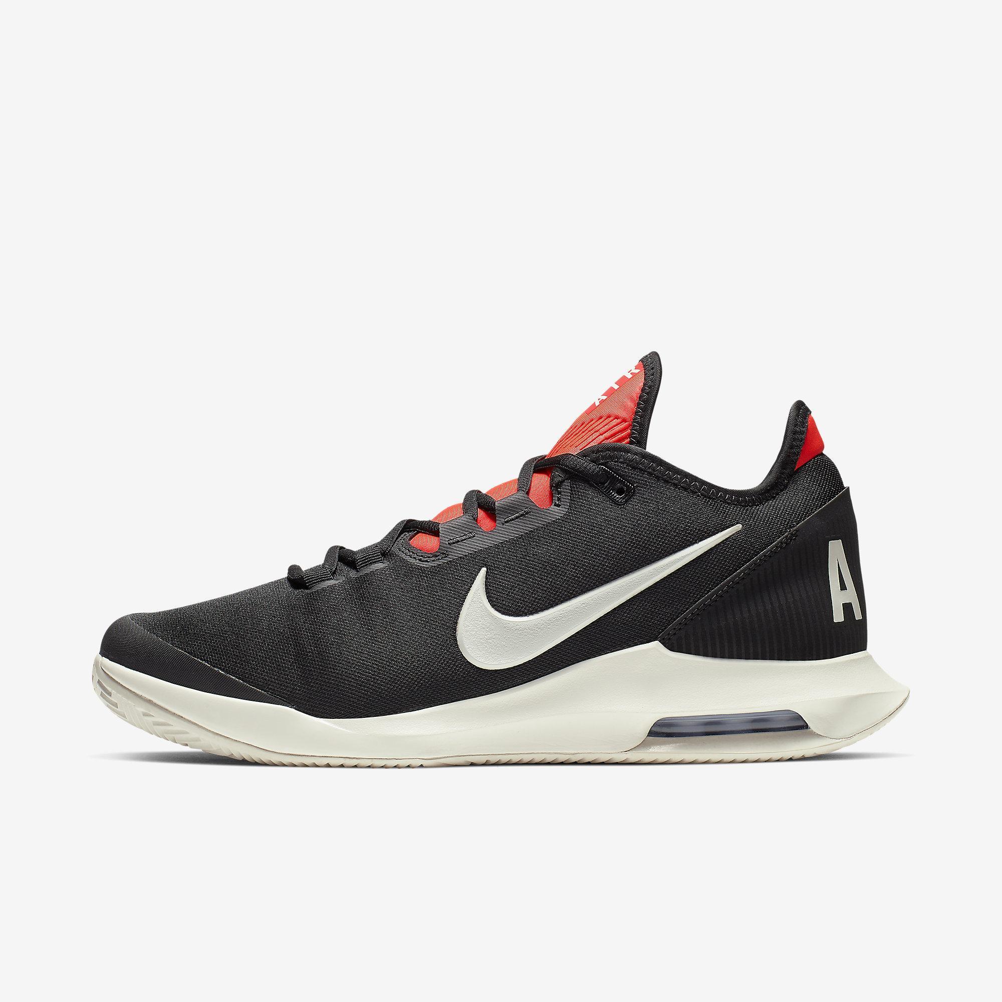 Nike Mens Air Max Wildcard Clay Tennis Shoes BlackPhantomBright Crimson