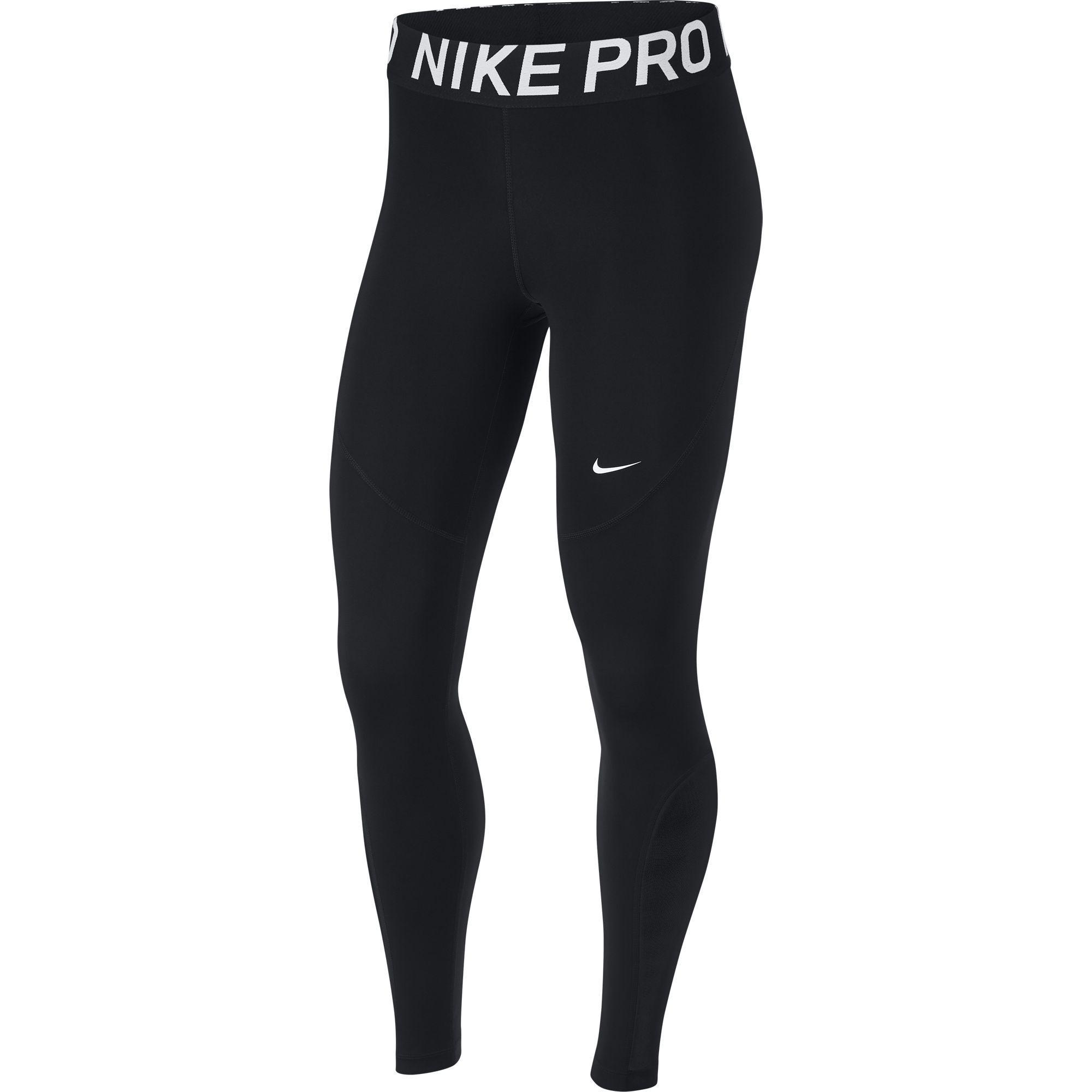 dc6726199b70e Nike Womens Pro Tights - Black/White - Tennisnuts.com