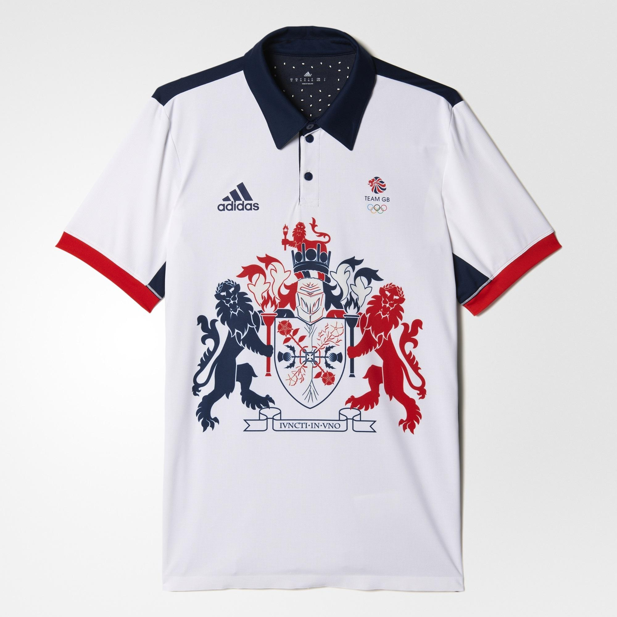 5411fa86d Adidas Mens Rio 2016 Team GB Olympic Climachill Polo - White/Blue -  Tennisnuts.com