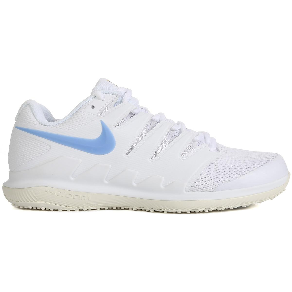 fe7bdfee2006 Nike Mens Air Zoom Vapor X Grass Court Tennis Shoes - White - Tennisnuts.com