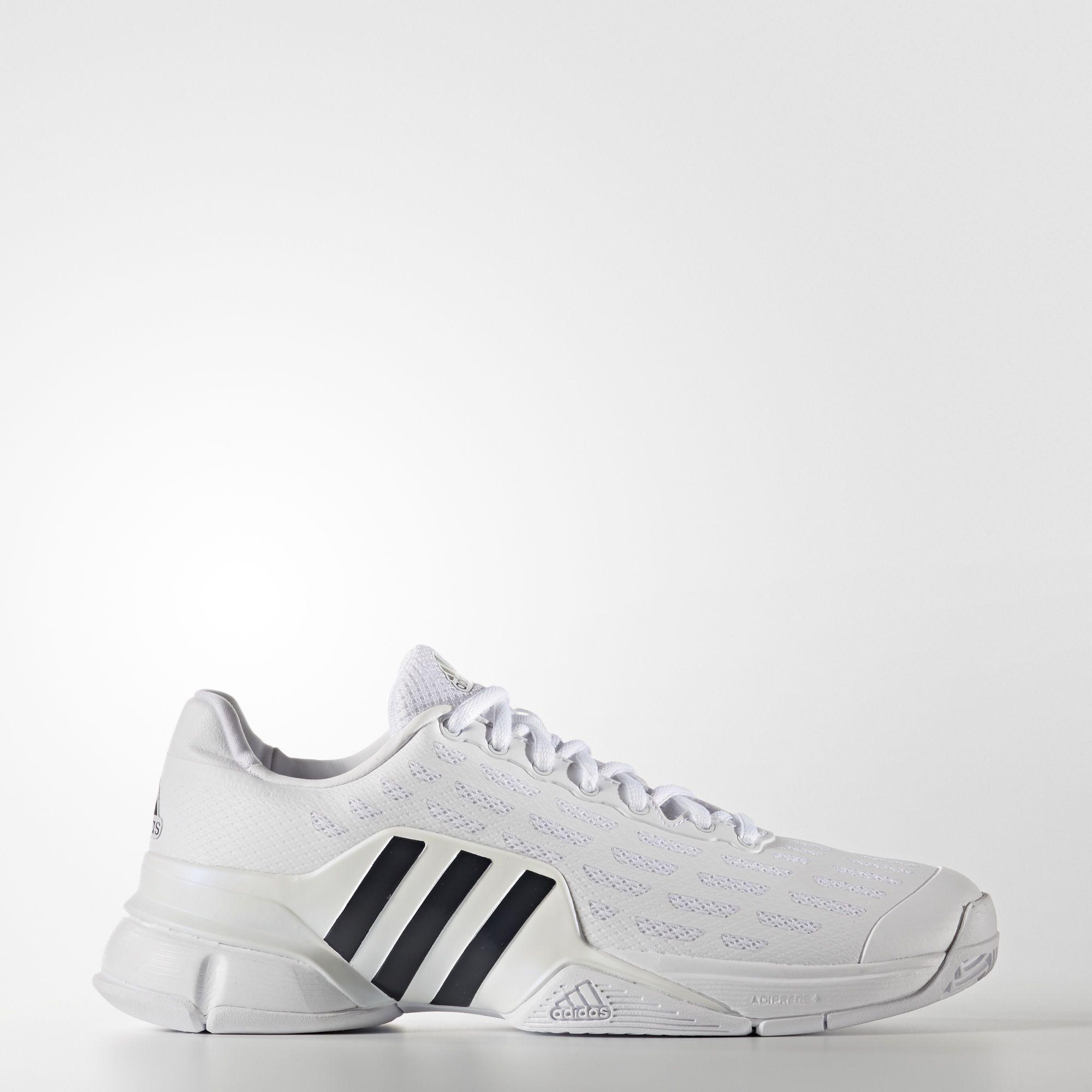 hot sale online 4f491 eccf0 Adidas Mens Barricade 2016 Tennis Shoes - White - Tennisnuts.com