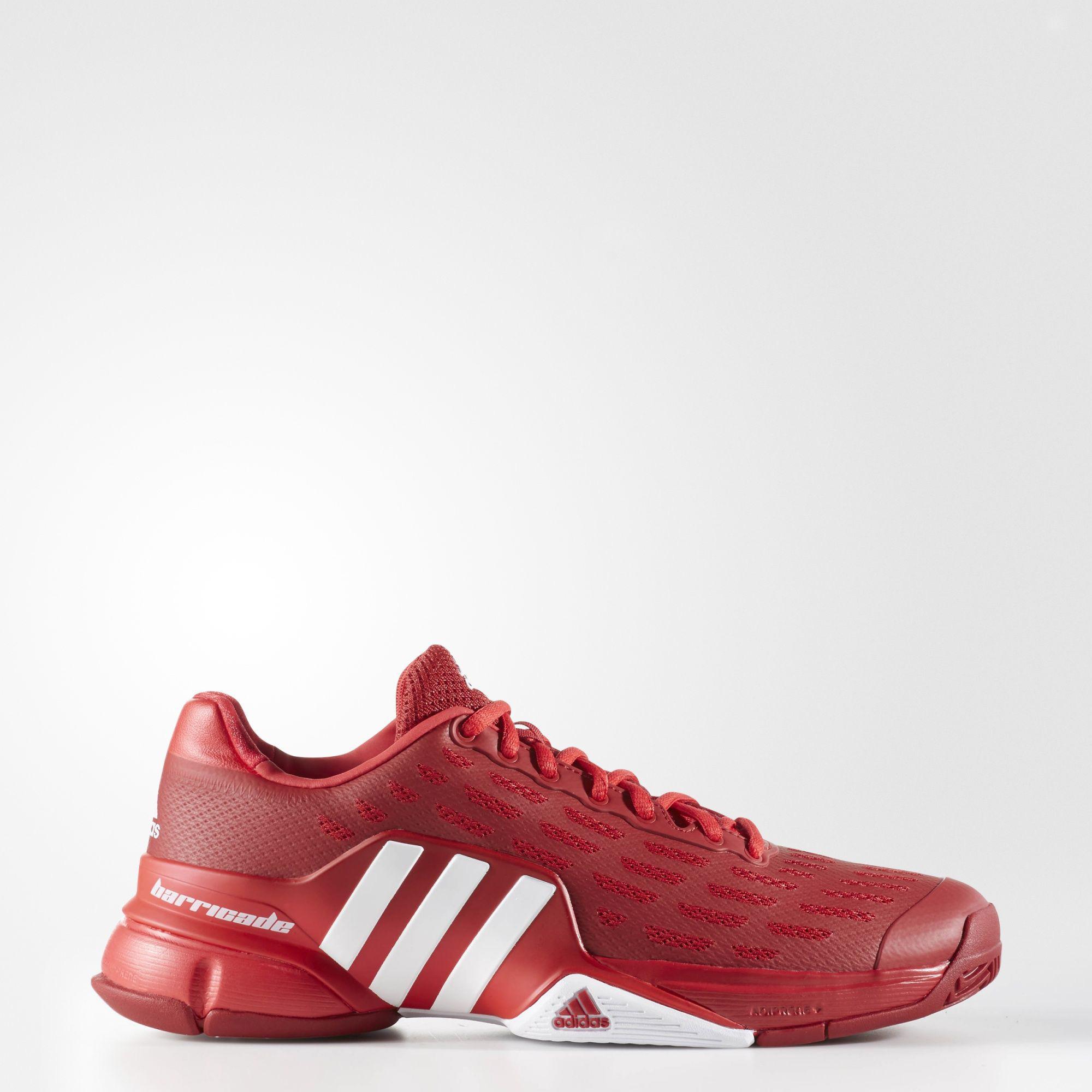 Adidas Mens Barricade 2016 Tennis Shoes - Red