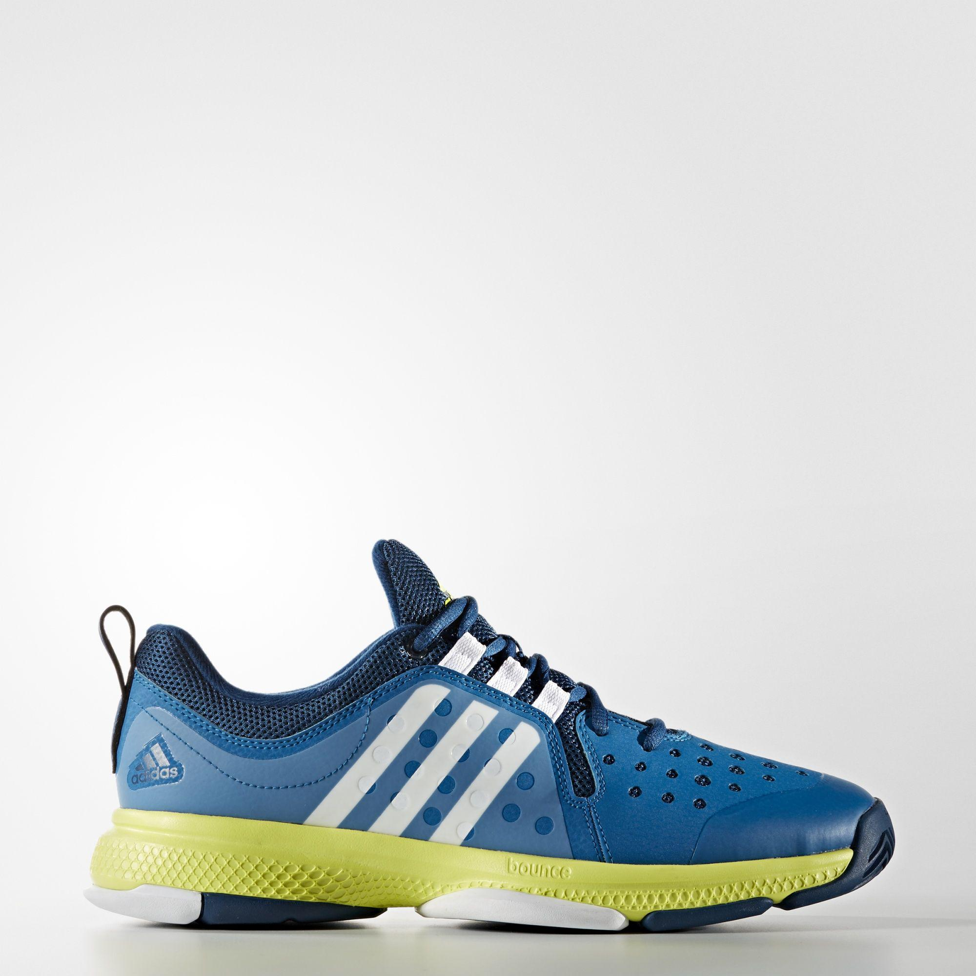 low cost a4f92 67f11 Adidas Mens Barricade Classic Bounce Tennis Shoes - BlueGreen -  Tennisnuts.com