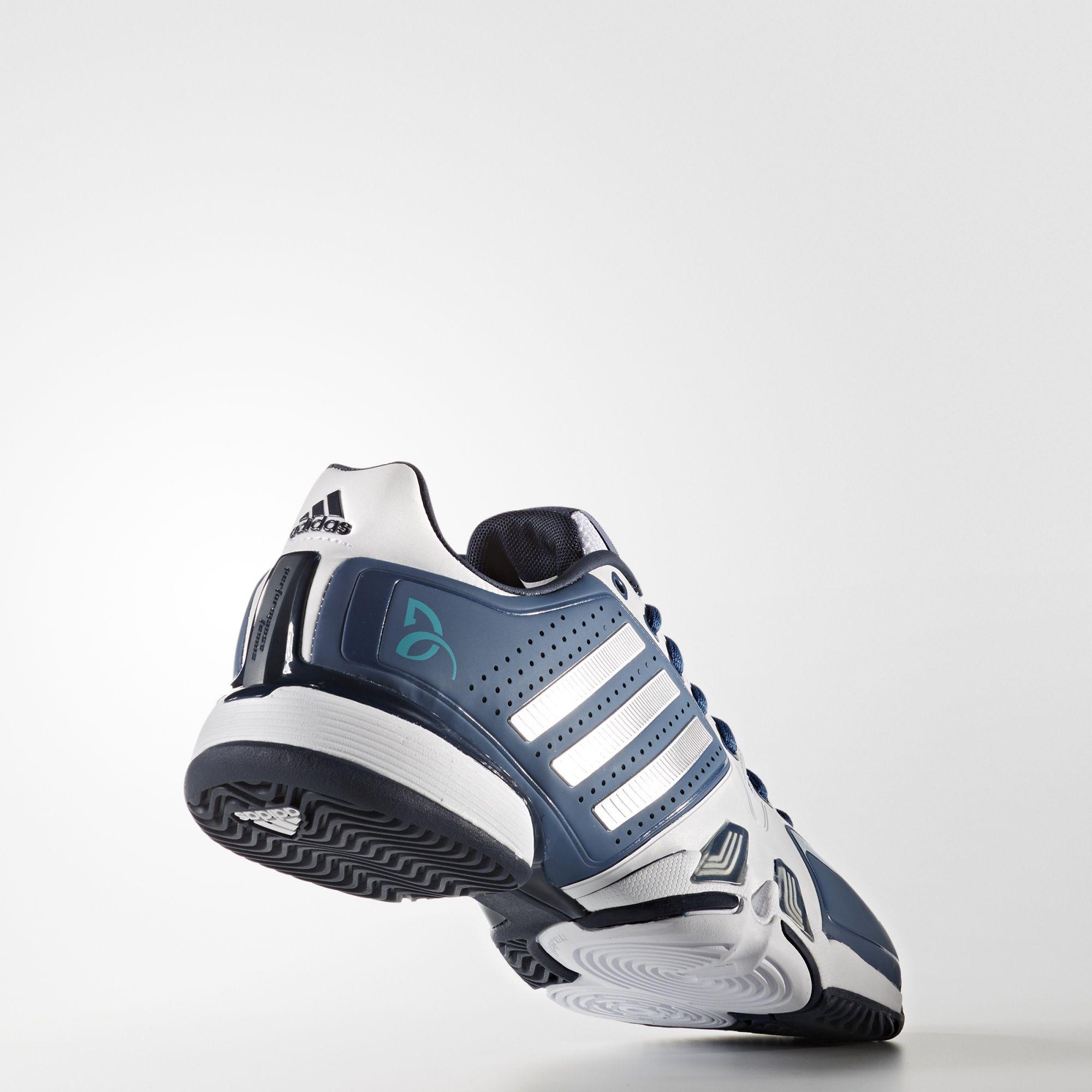 2aa9484df7f Adidas Mens Barricade Novak Pro Tennis Shoes - White - Tennisnuts.com