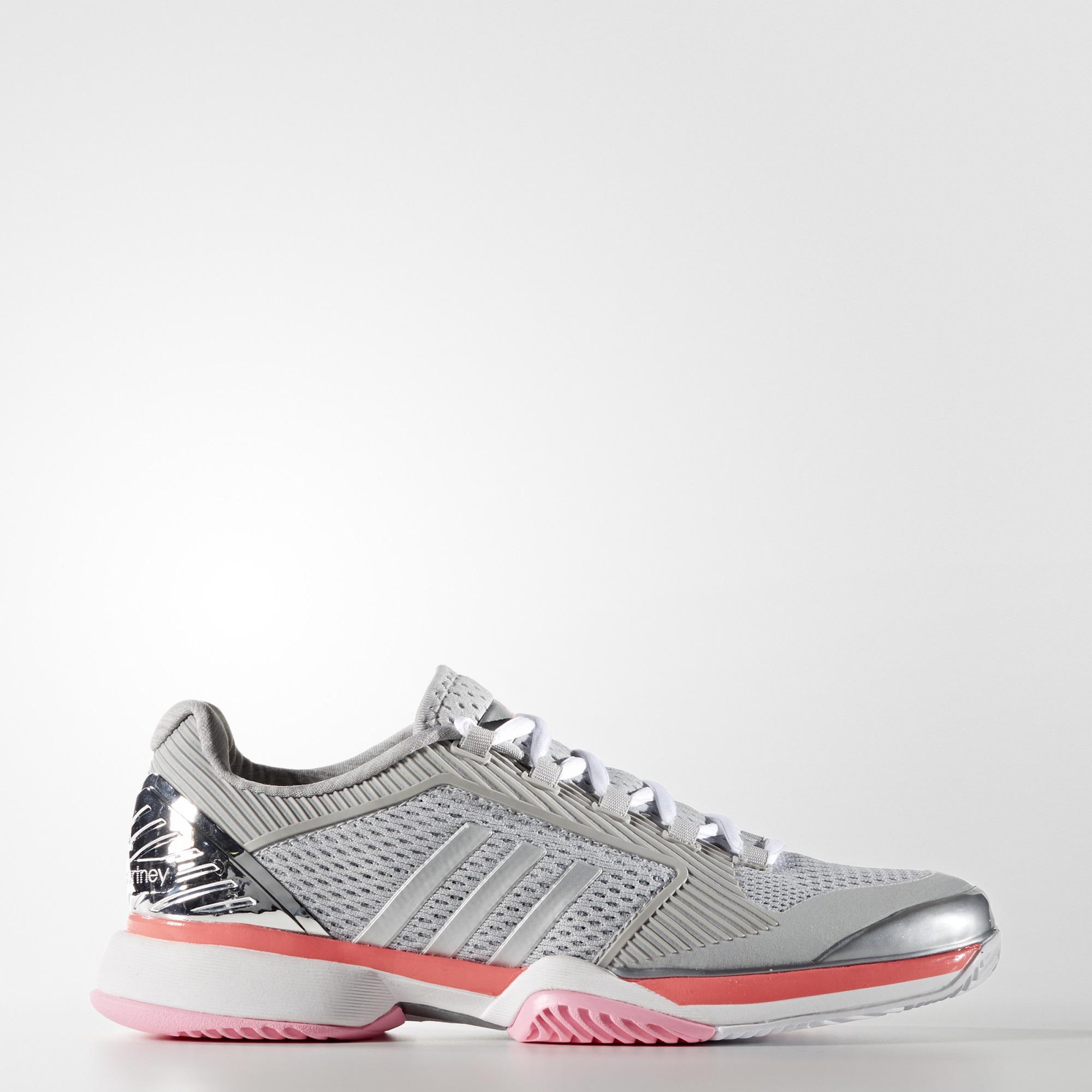online store 684af e3a08 Adidas Womens SMC Barricade 2016 Tennis Shoes - Silver - Ten