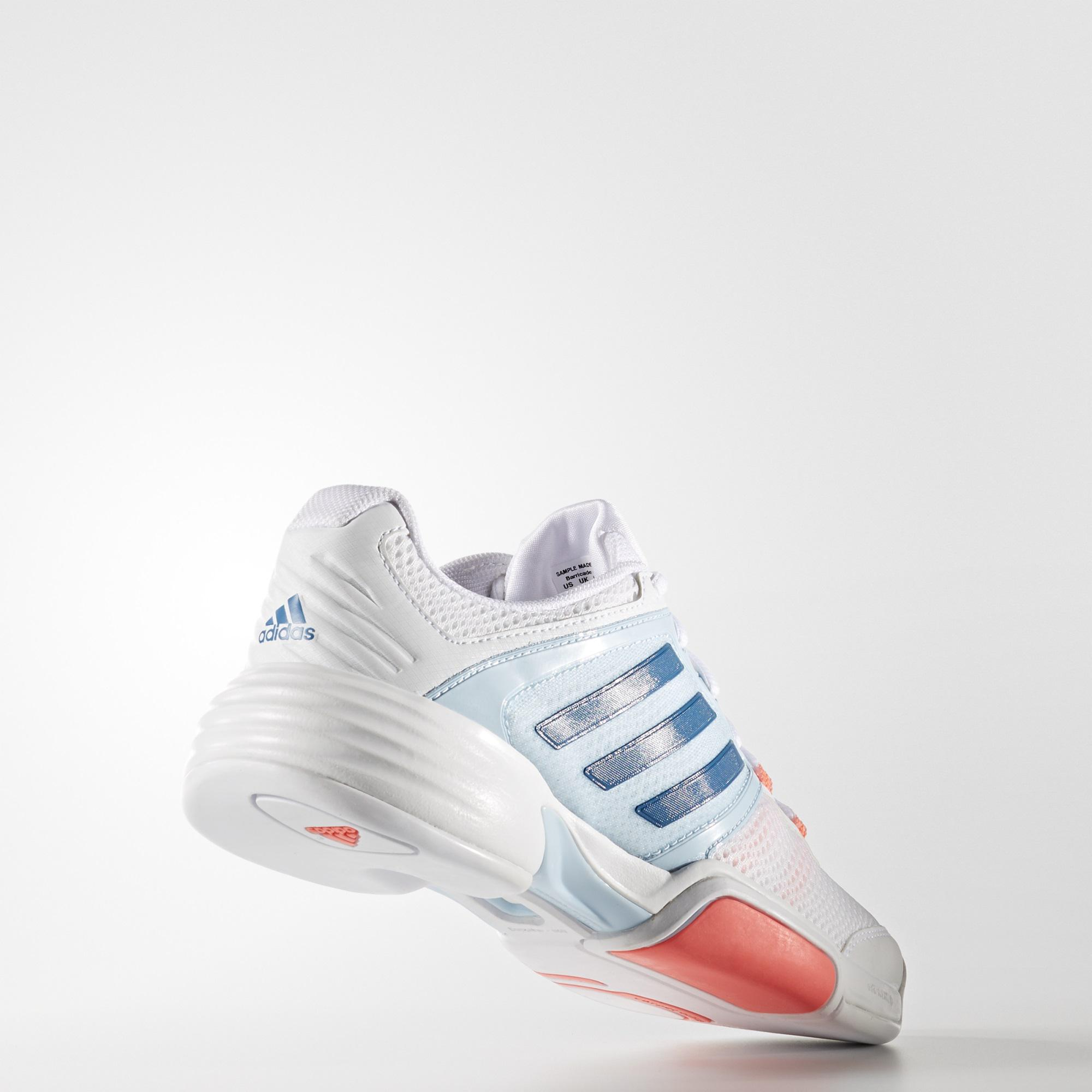 Adidas Womens Barricade Club Carpet Tennis Shoes - White Blue ... cd940b02e