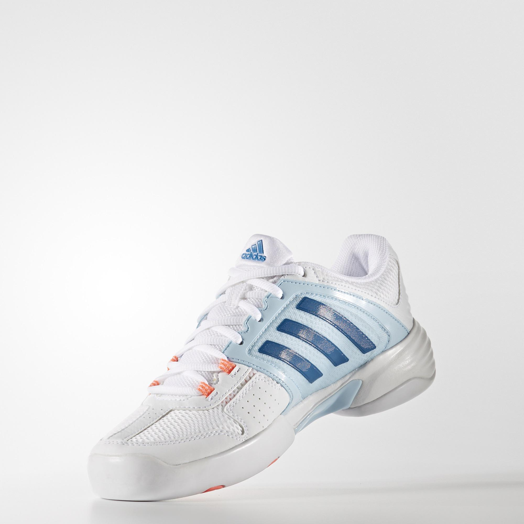Adidas Womens Barricade Club Carpet Tennis Shoes - White Blue ... cd940b02e