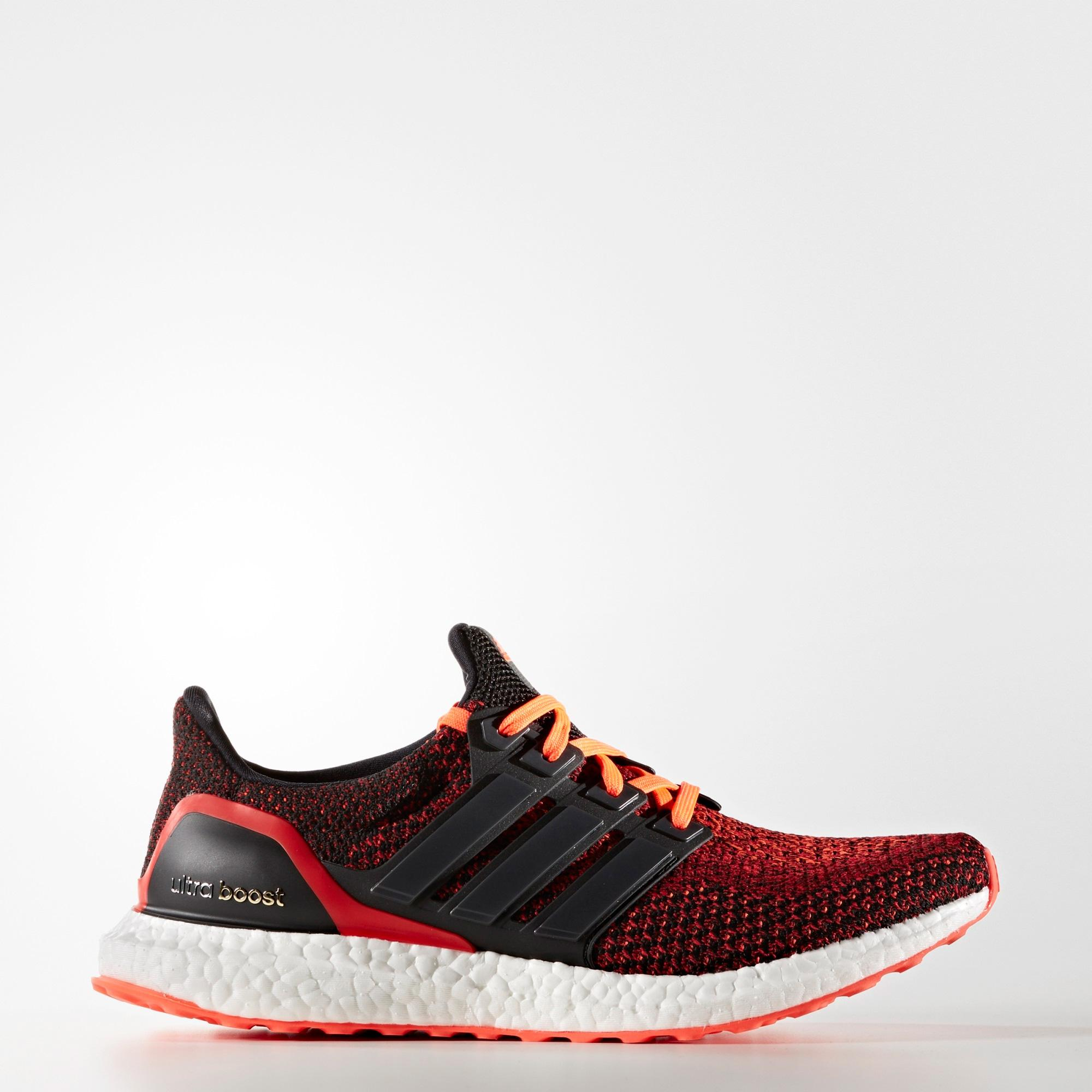 Adidas Mens Ultra Boost Running Shoes - Solar Red/Black