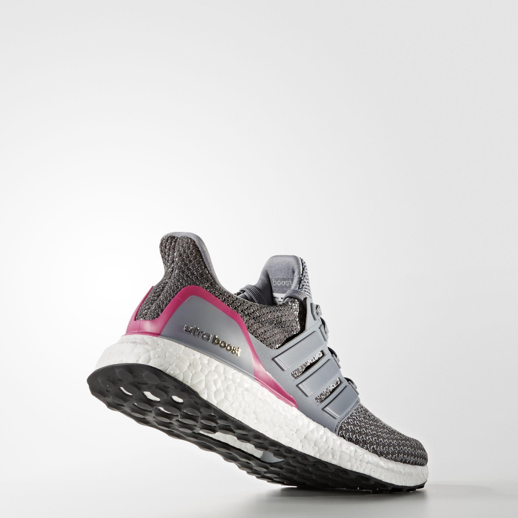 82b42982c Adidas Womens Ultra Boost Running Shoes - Grey Pink - Tennisnuts.com