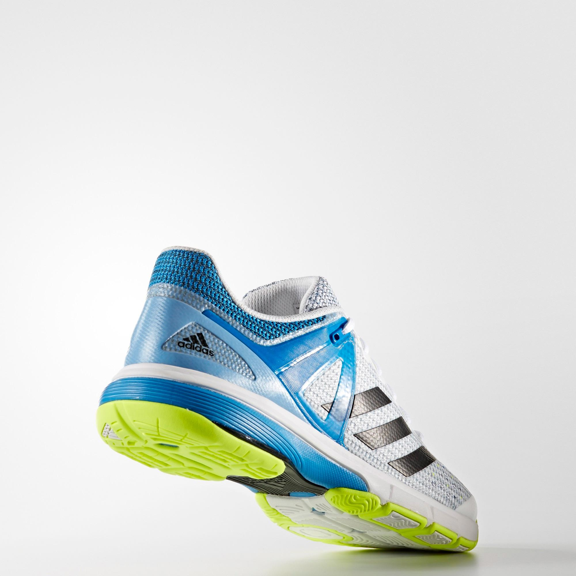 e37a5fc25 Adidas Mens Court Stabil 13 Indoor Shoes - White/Blue - Tennisnuts.com