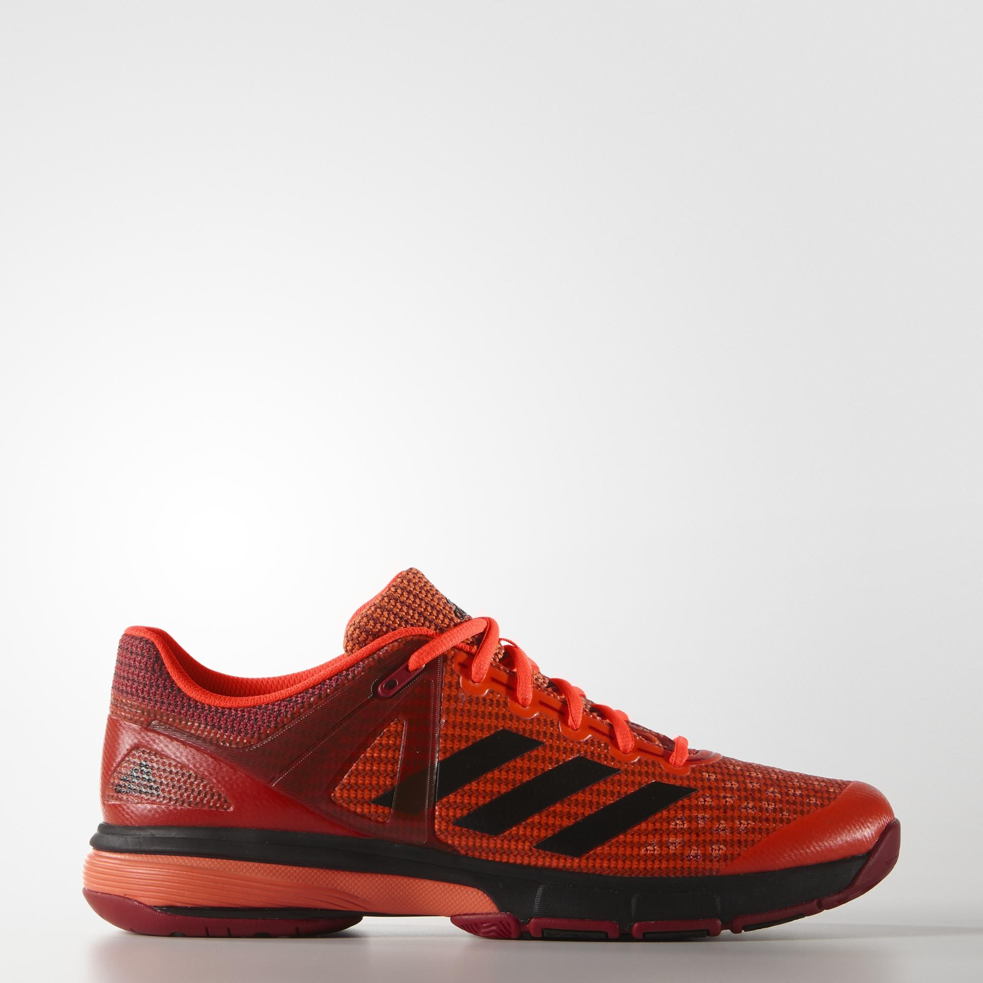 Adidas Mens Court Stabil 13 Indoor Shoes - Red