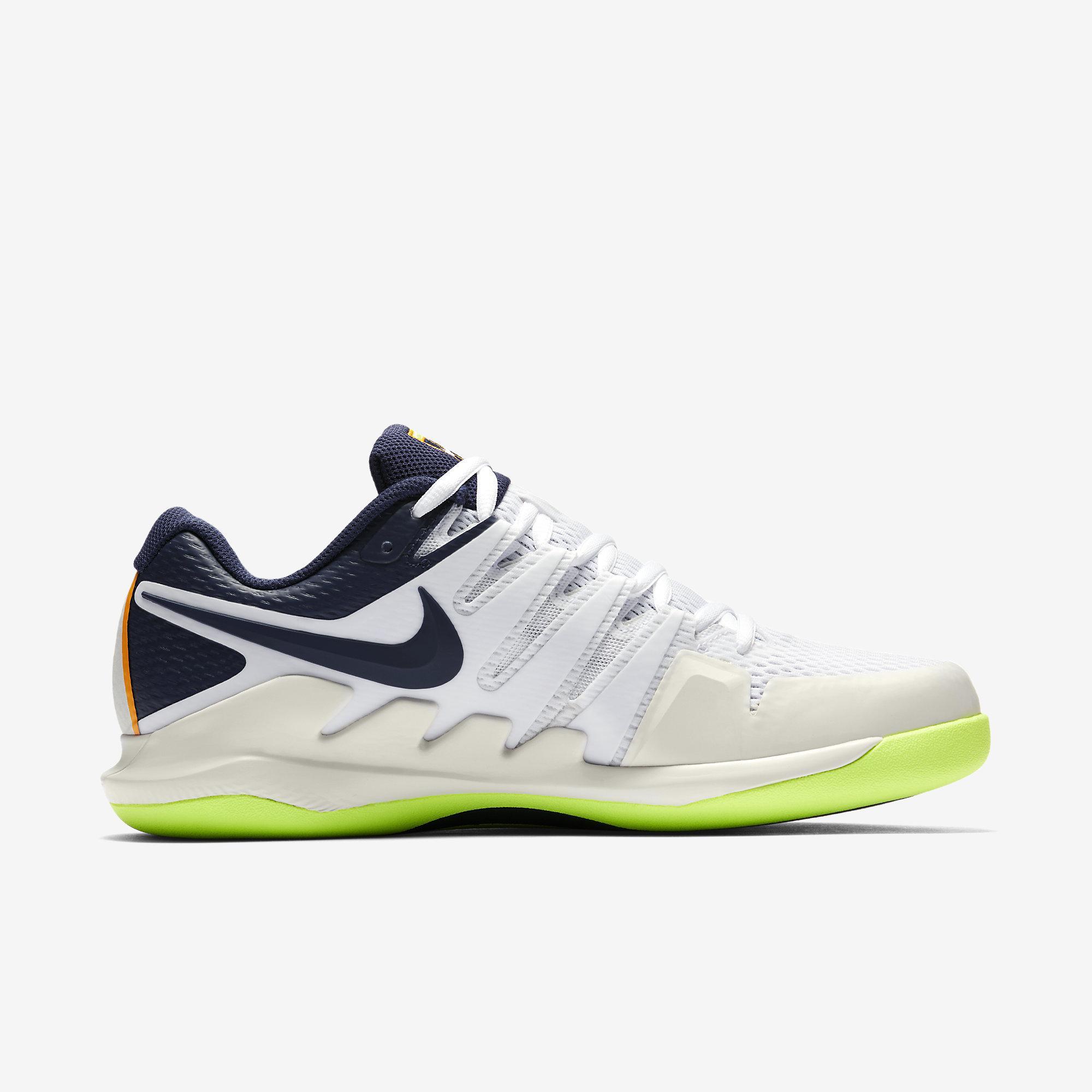 f0df9fec8ad4 Nike Mens Air Zoom Vapor X Carpet Tennis Shoes - Phantom Blackened Blue  White