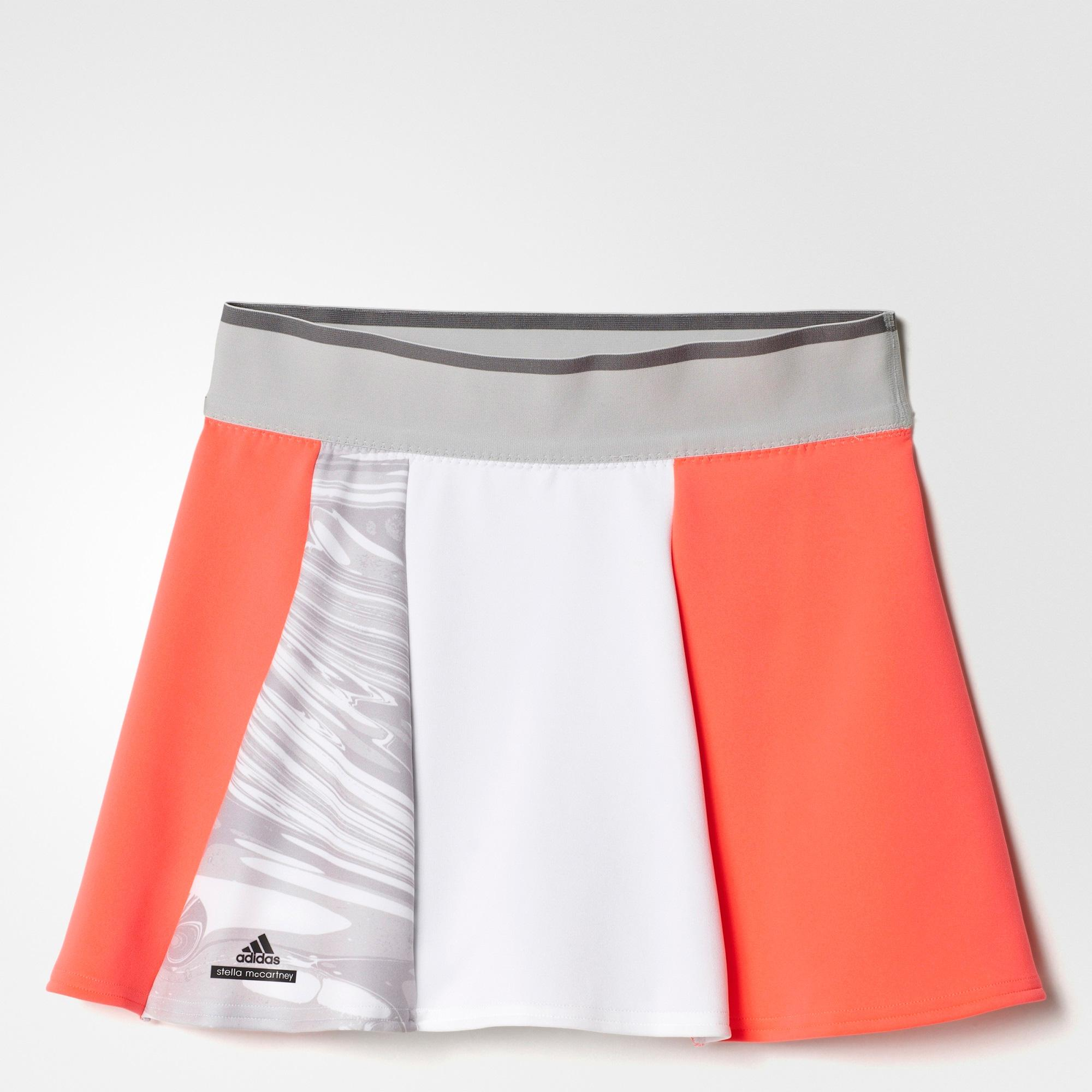 8573844ebe Adidas Girls Stella McCartney Barricade Skort - Red/White/Grey -  Tennisnuts.com