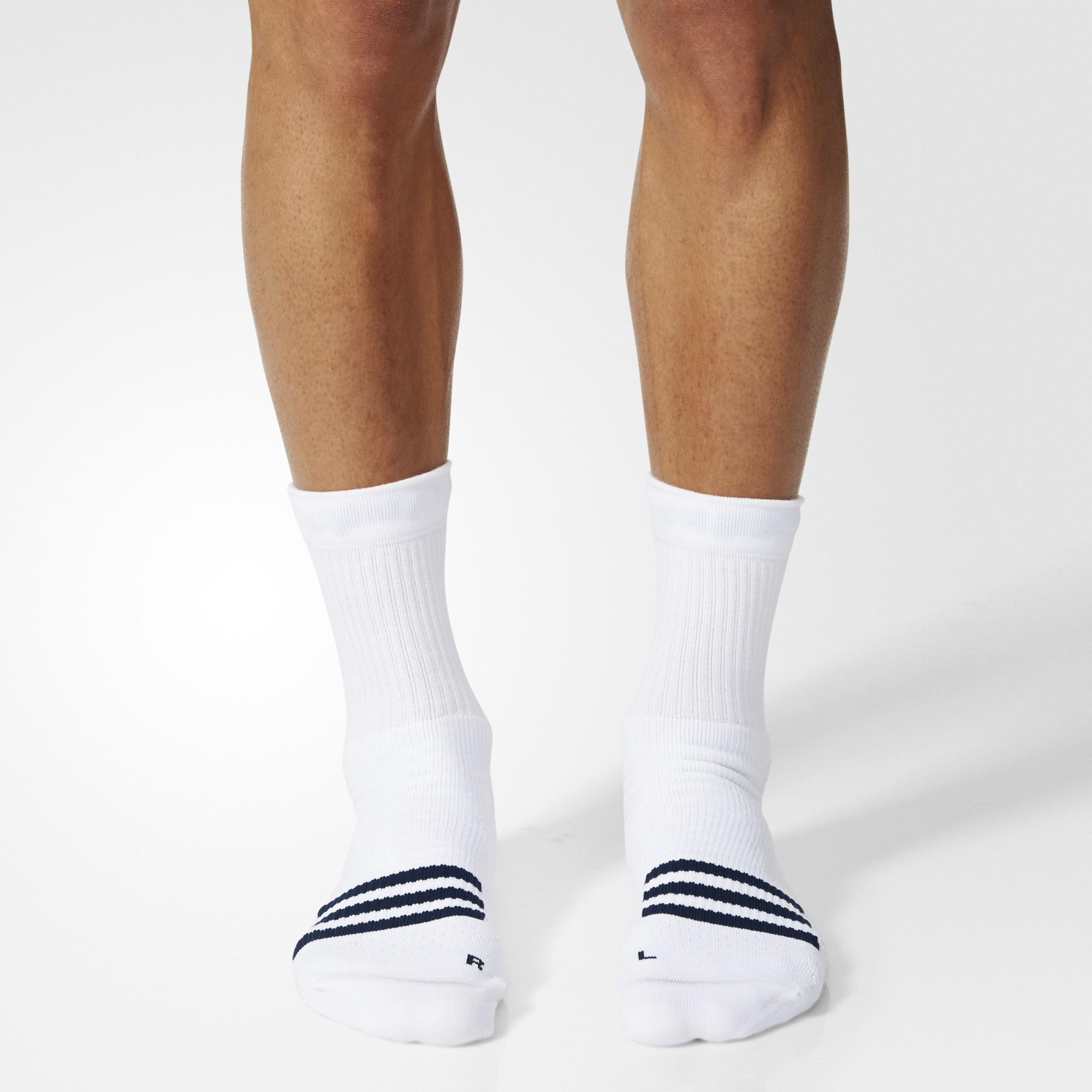 Adidas Tennis ID Crew Socks (1 Pair) WhiteBlack
